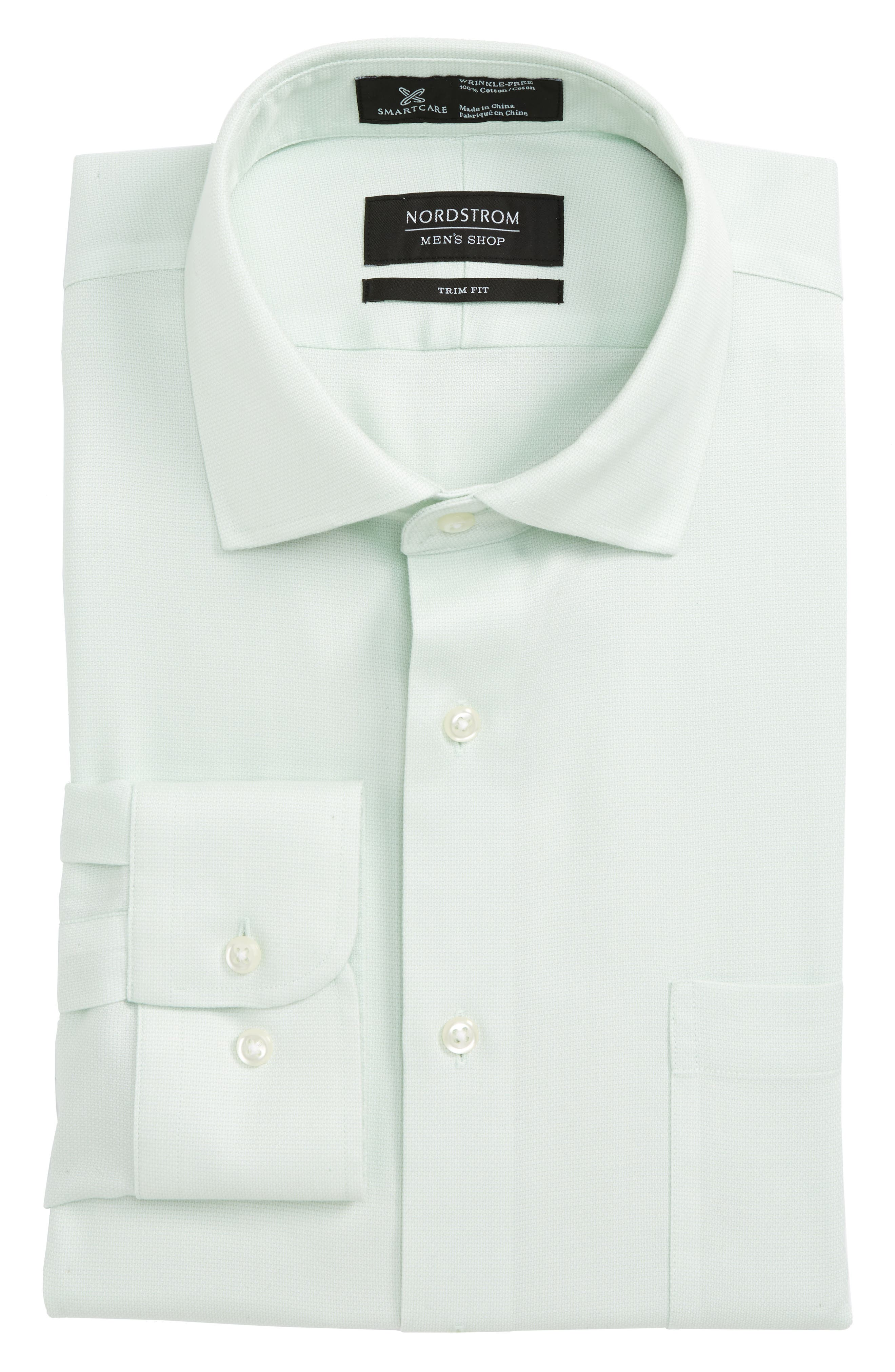 Smartcare<sup>™</sup> Trim Fit Oxford Dress Shirt,                             Main thumbnail 1, color,
