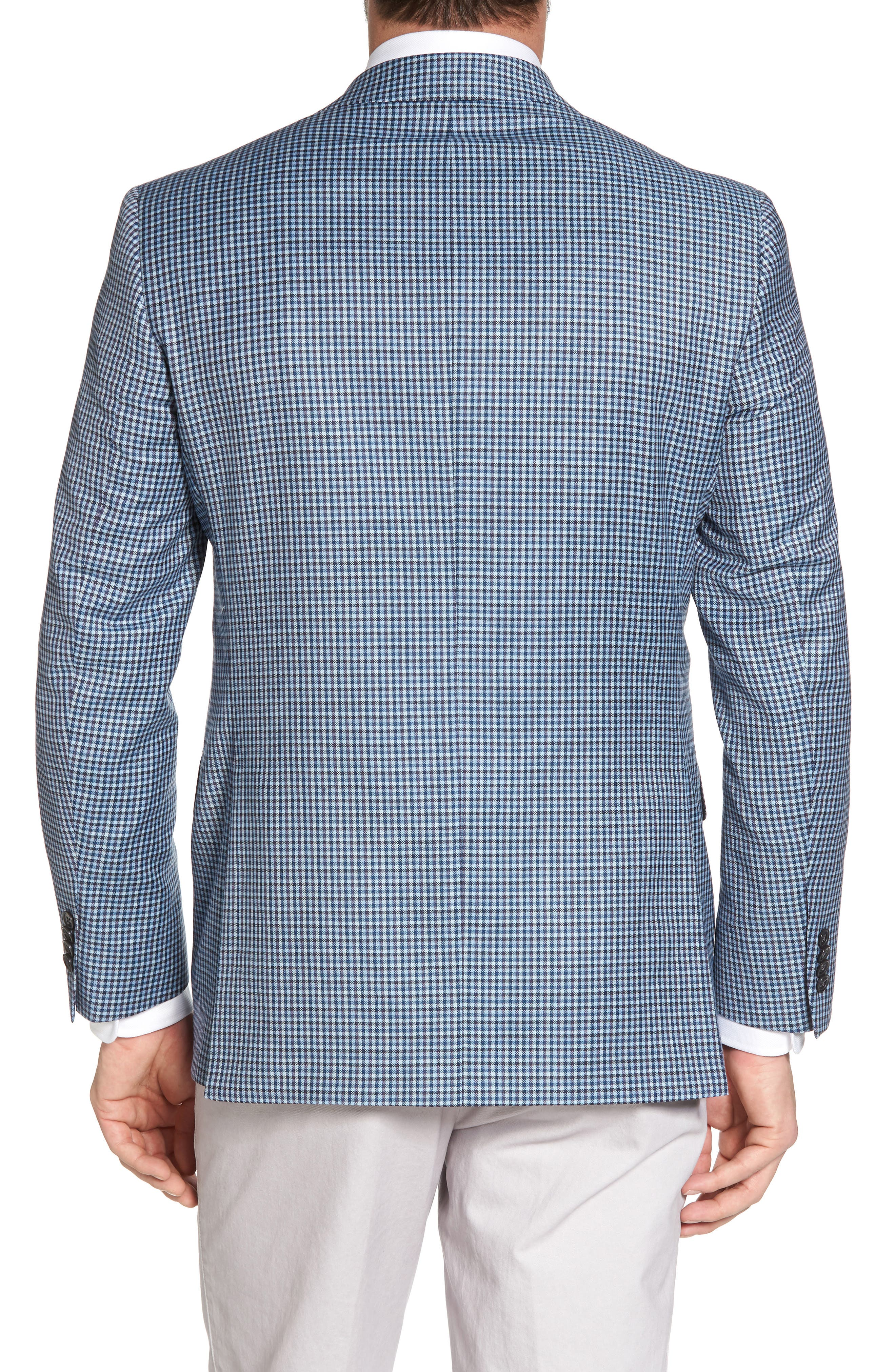 Arnold Classic Fit Check Wool Sport Coat,                             Alternate thumbnail 2, color,                             400