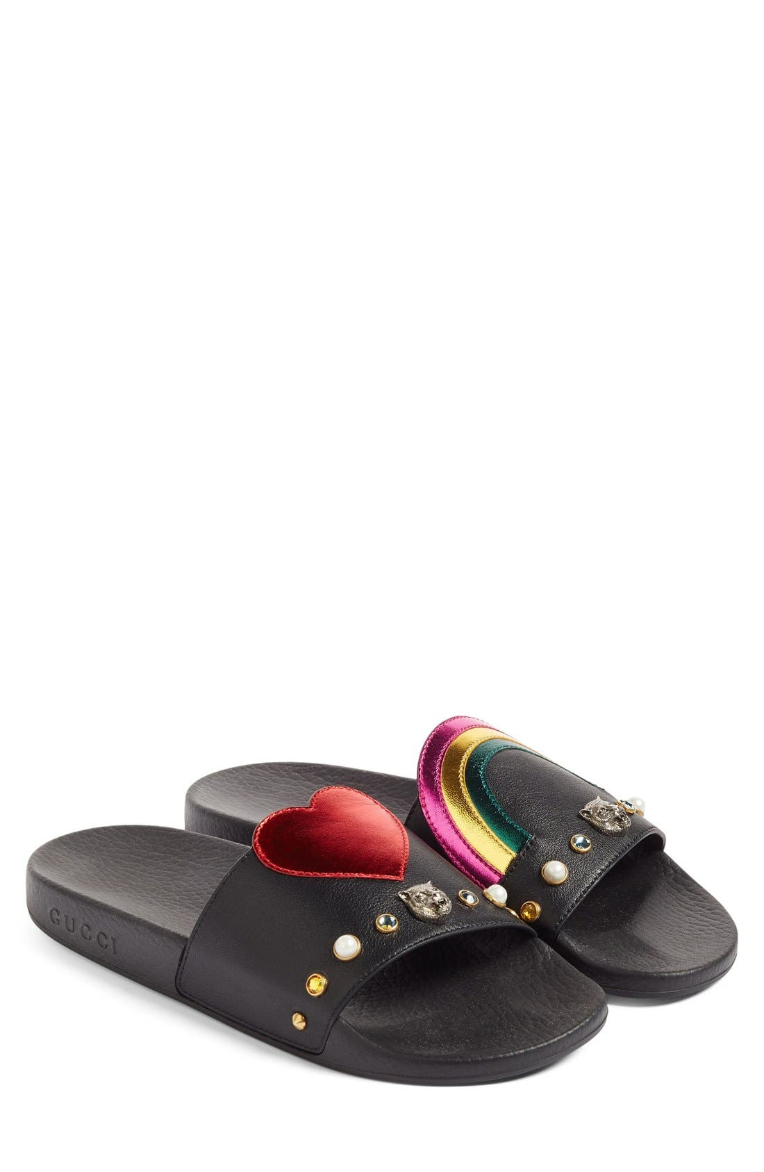 Pursuit Slide Sandal,                             Alternate thumbnail 6, color,                             001