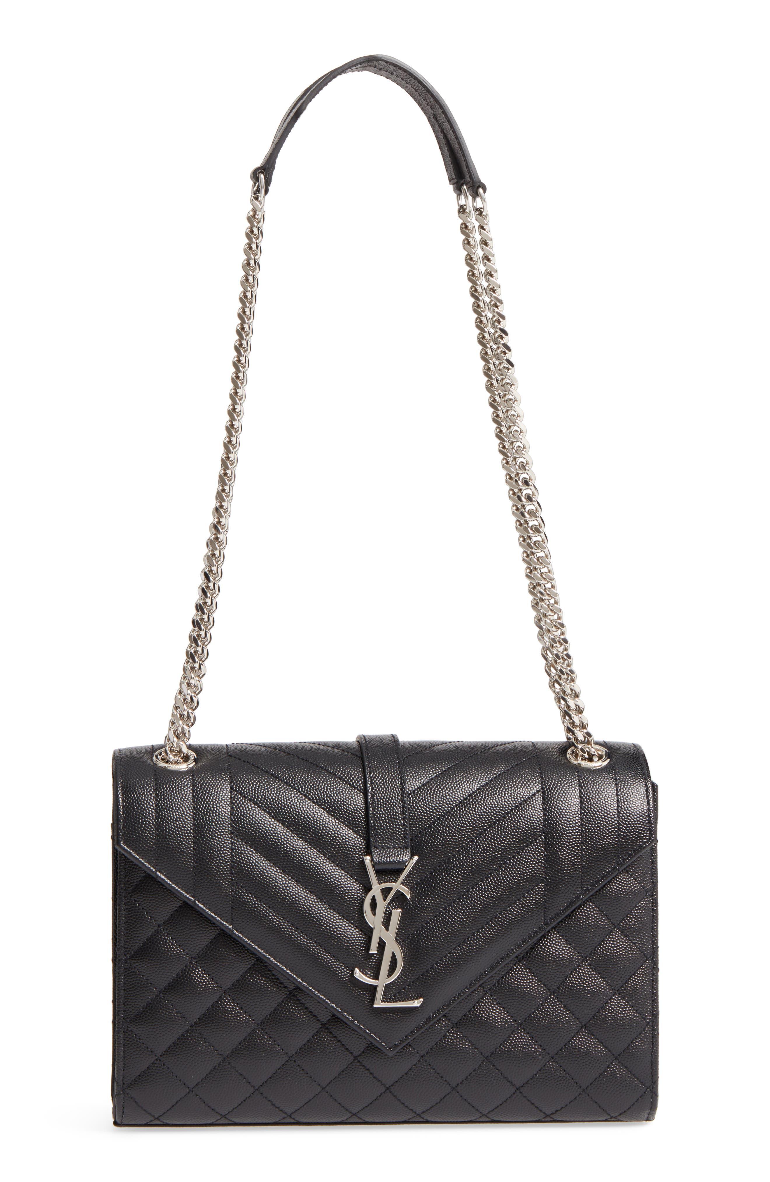 Medium Cassandra Calfskin Shoulder Bag,                             Main thumbnail 1, color,                             001