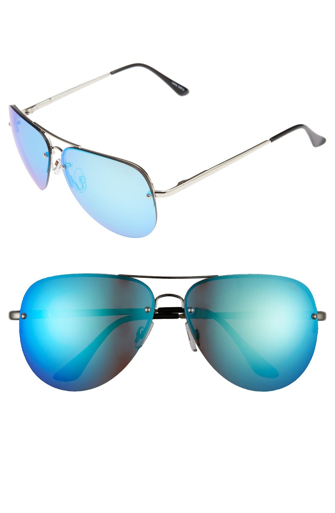 'Muse' 65mm Mirrored Aviator Sunglasses,                             Main thumbnail 3, color,