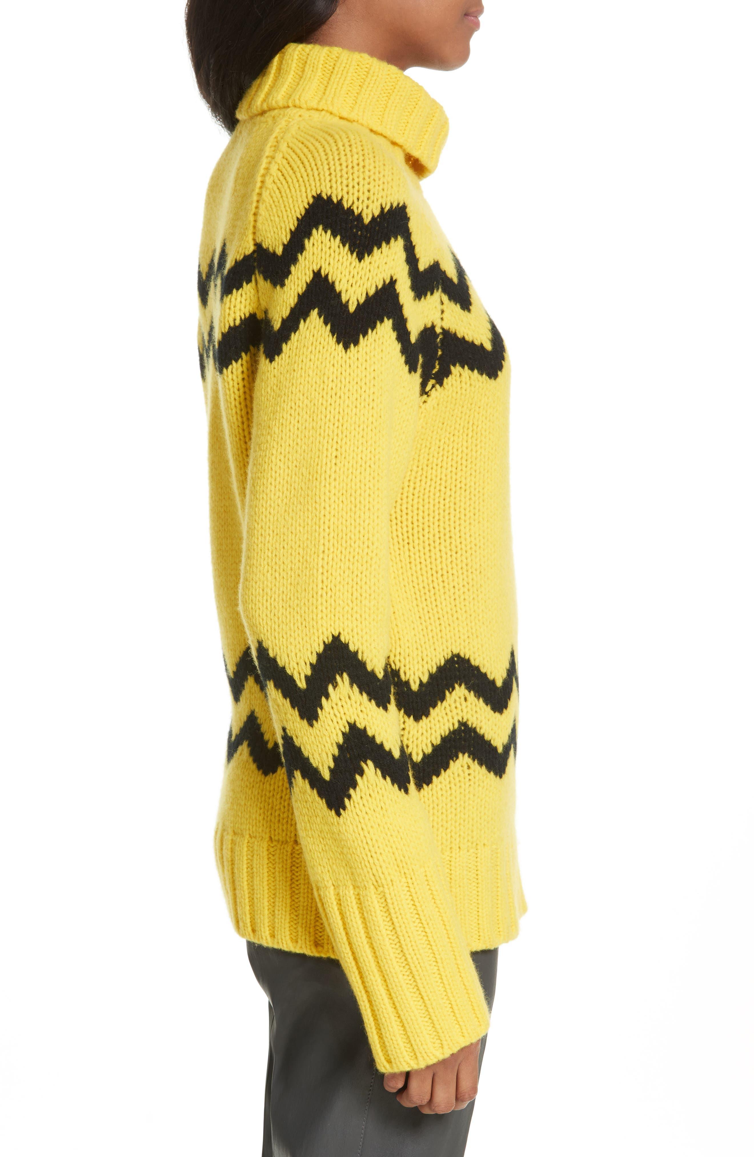 Chunky Intarsia Turtleneck Sweater,                             Alternate thumbnail 3, color,                             750