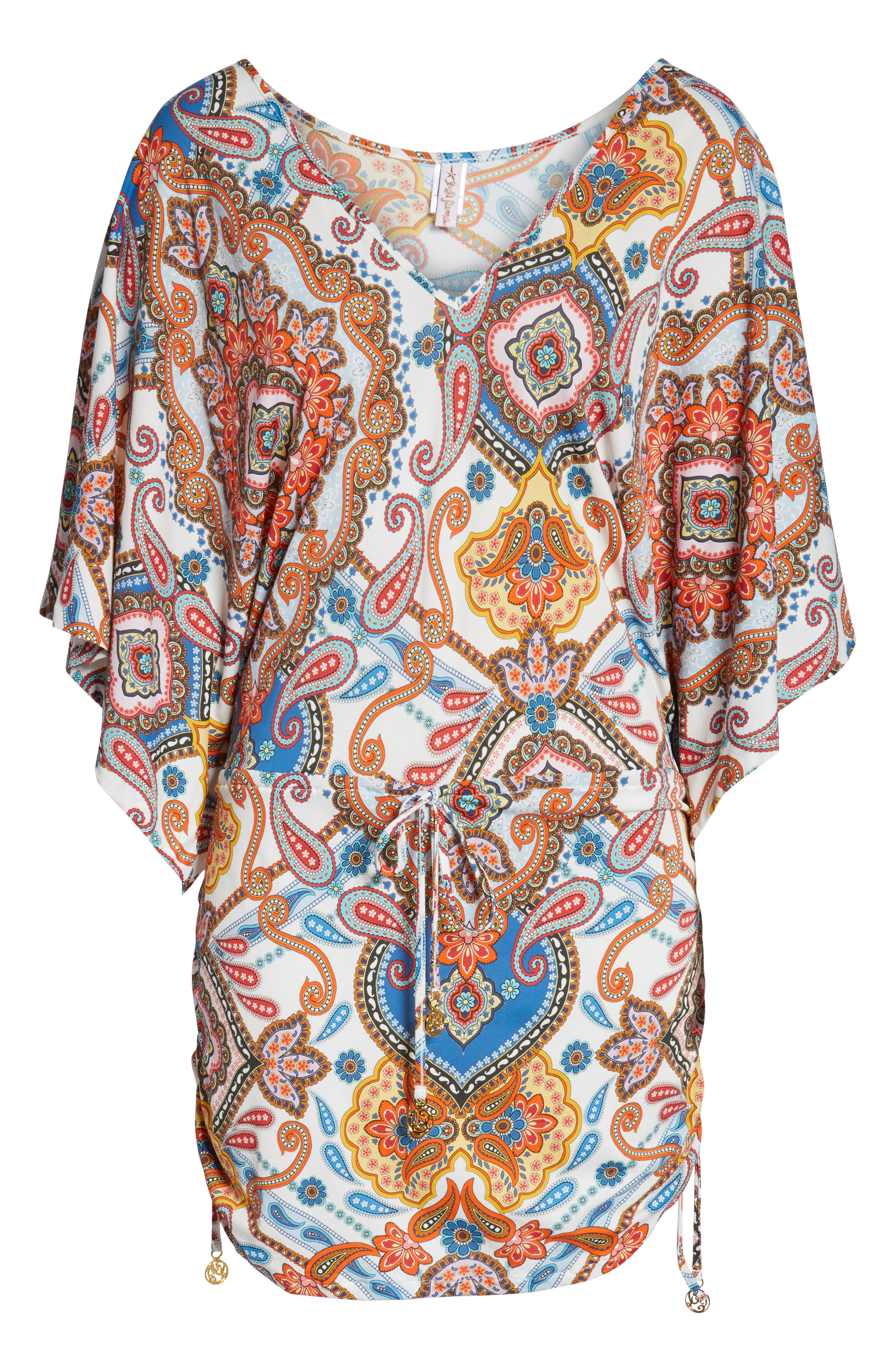 Cabana Cover-Up Dress,                             Alternate thumbnail 6, color,                             WHITE