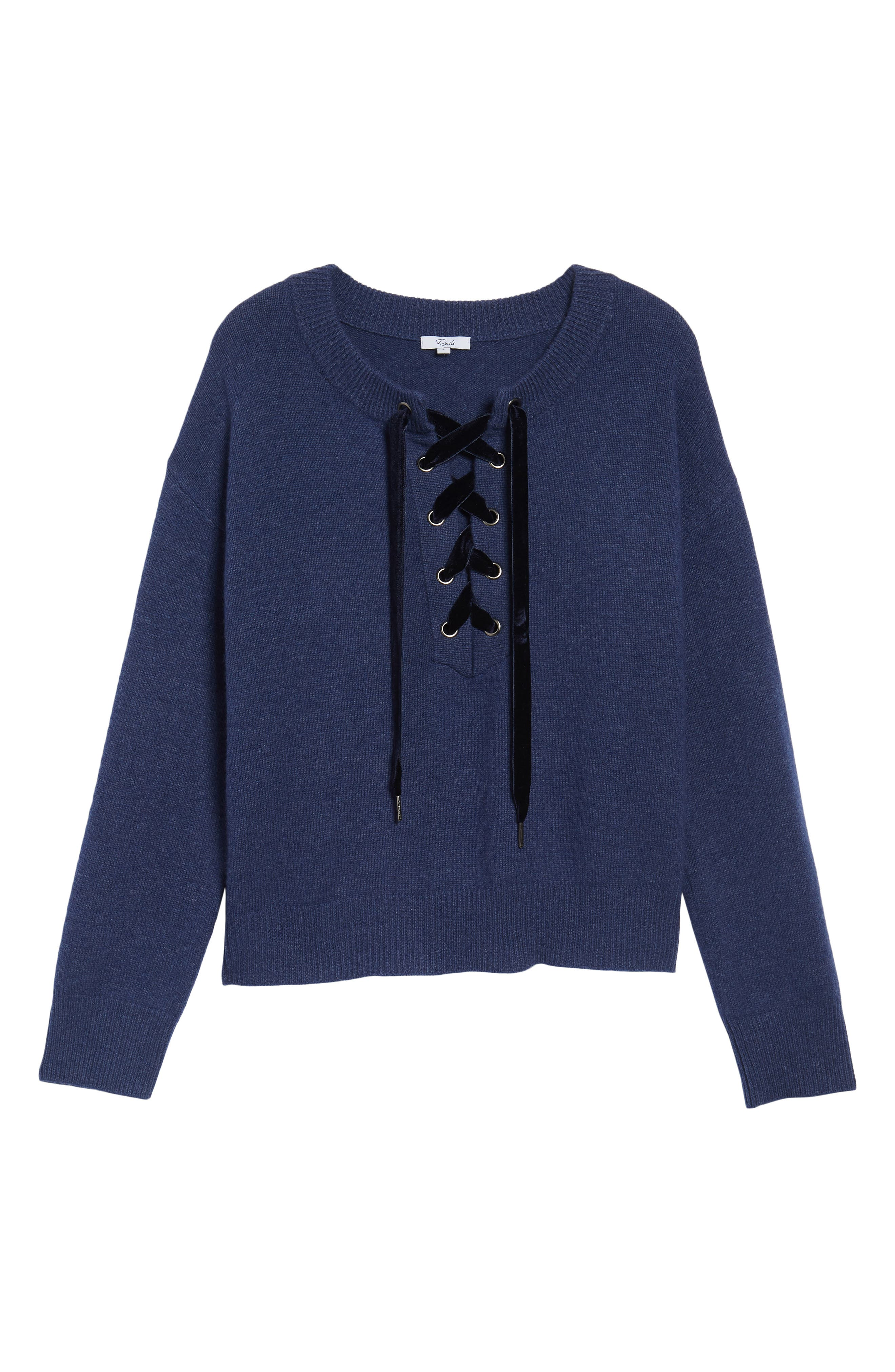 Olivia Lace-Up Sweater,                             Alternate thumbnail 19, color,
