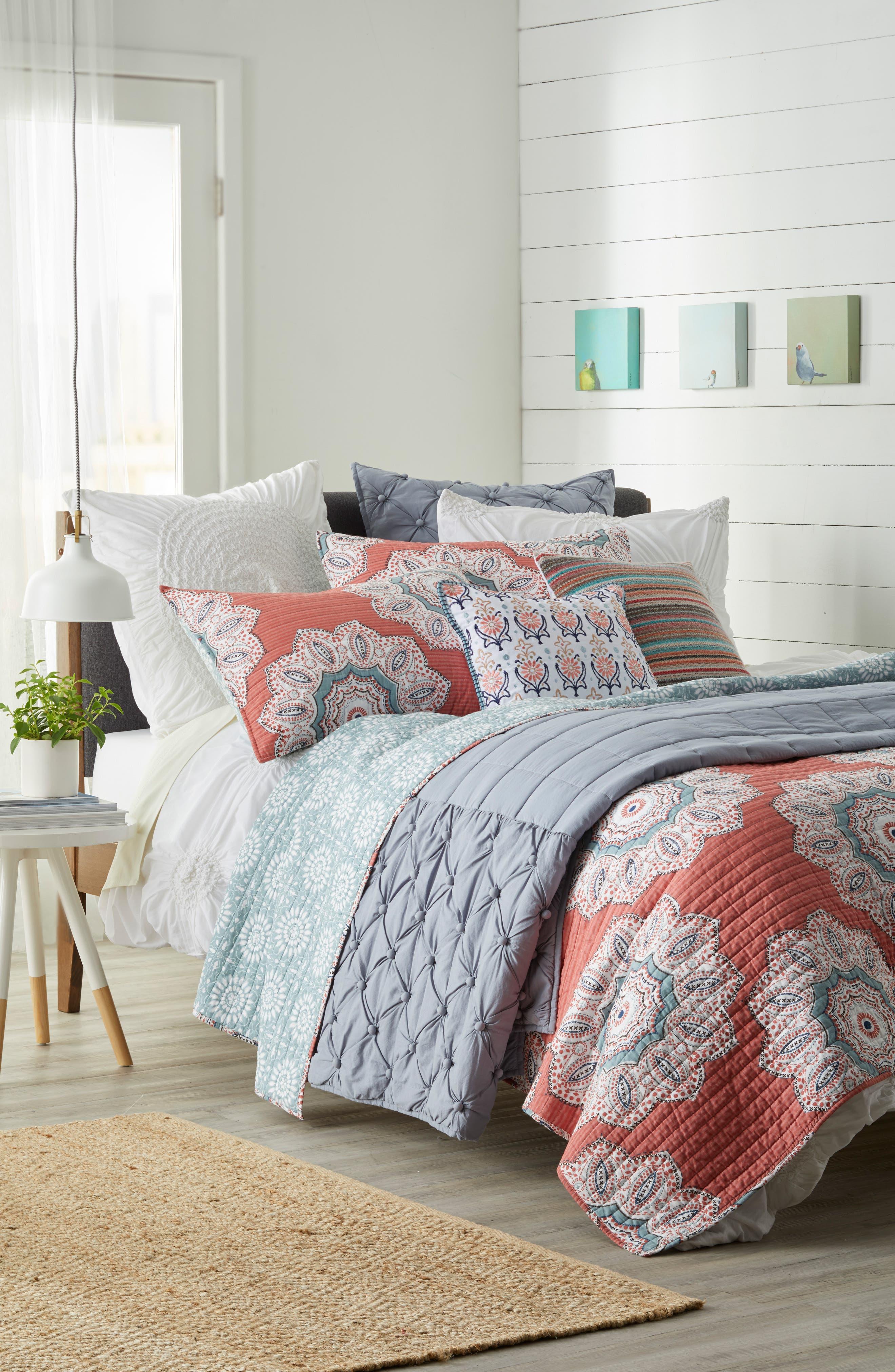 Aubrie Stripe Pillow,                             Alternate thumbnail 4, color,                             020