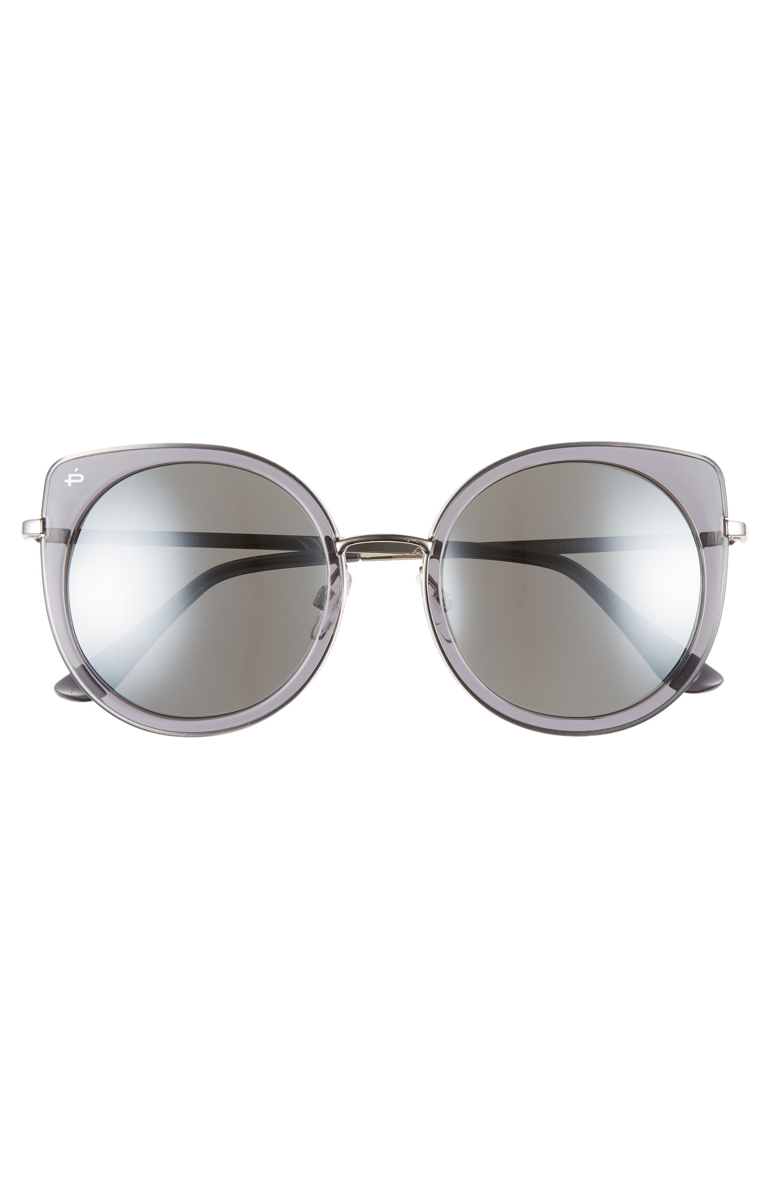 Privé Revaux The Georgian 53mm Sunglasses,                             Alternate thumbnail 3, color,                             CRYSTAL SMOKE