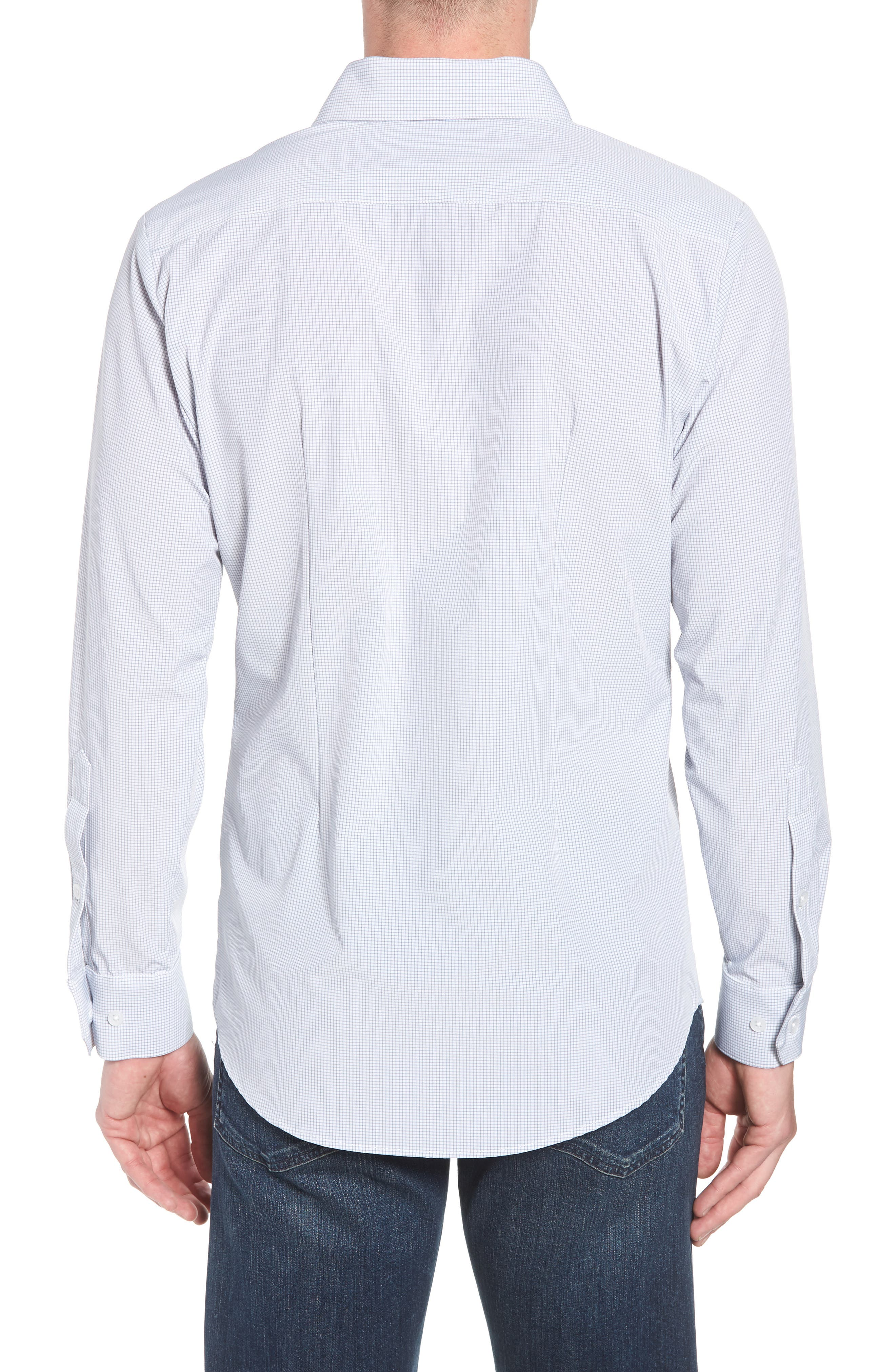Marion Trim Fit Grid Performance Sport Shirt,                             Alternate thumbnail 2, color,                             052