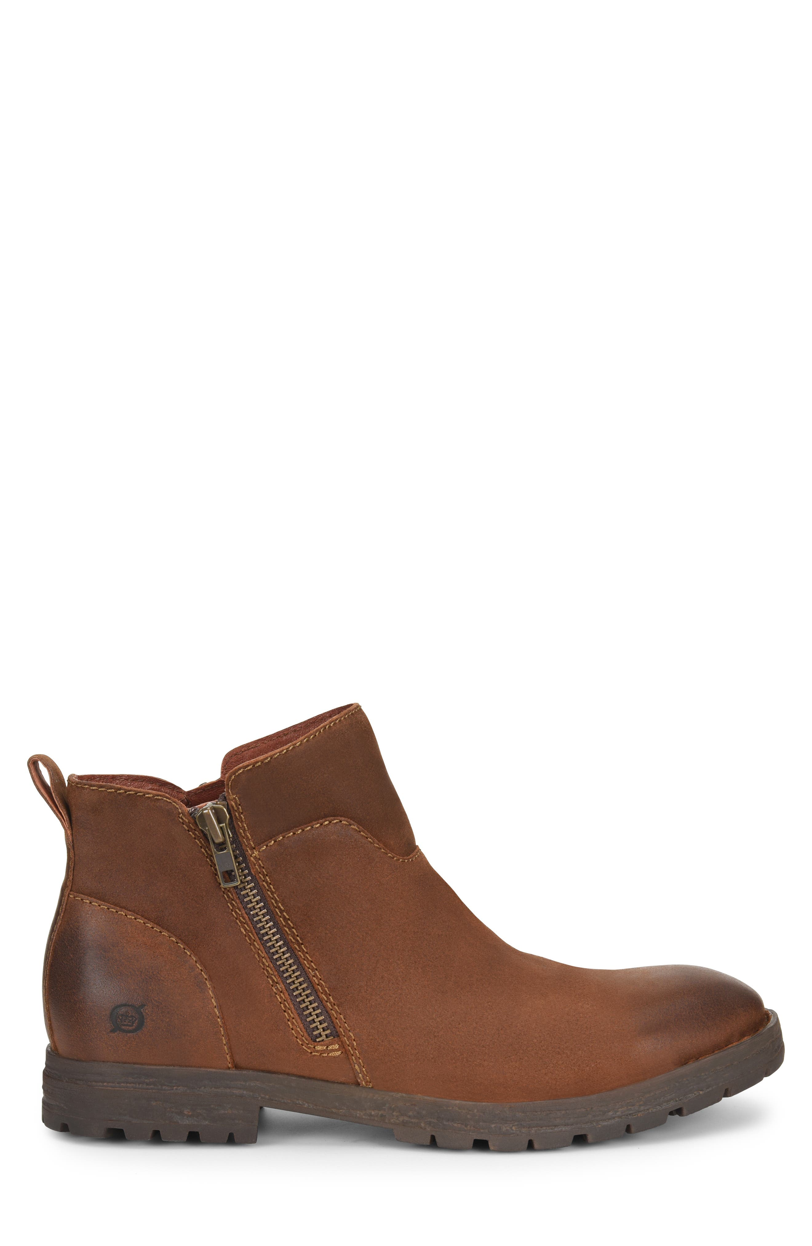 Born Ludo Zip Boot,                             Alternate thumbnail 3, color,                             RUST SUEDE