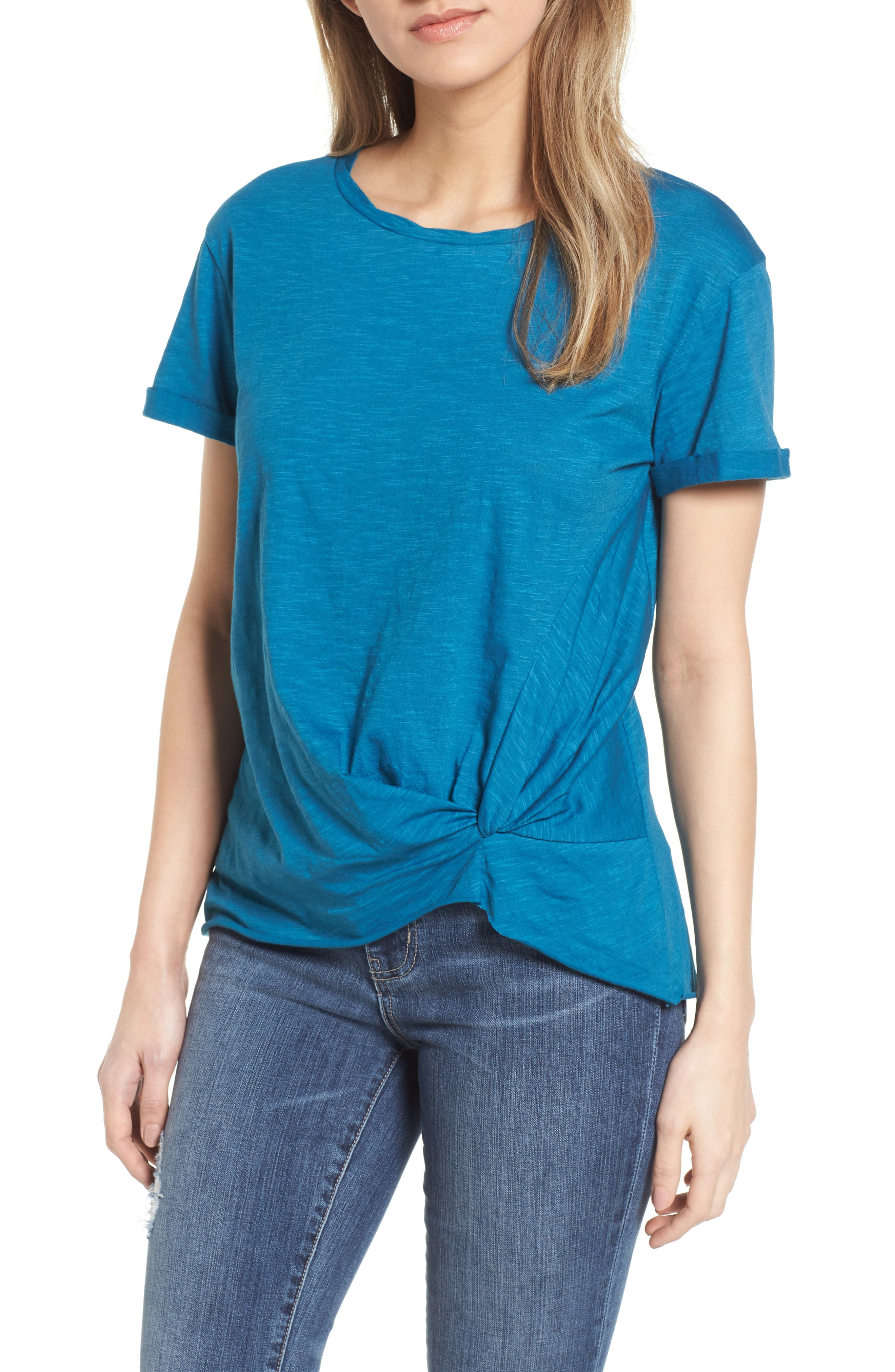 Knotted Tee,                             Main thumbnail 2, color,