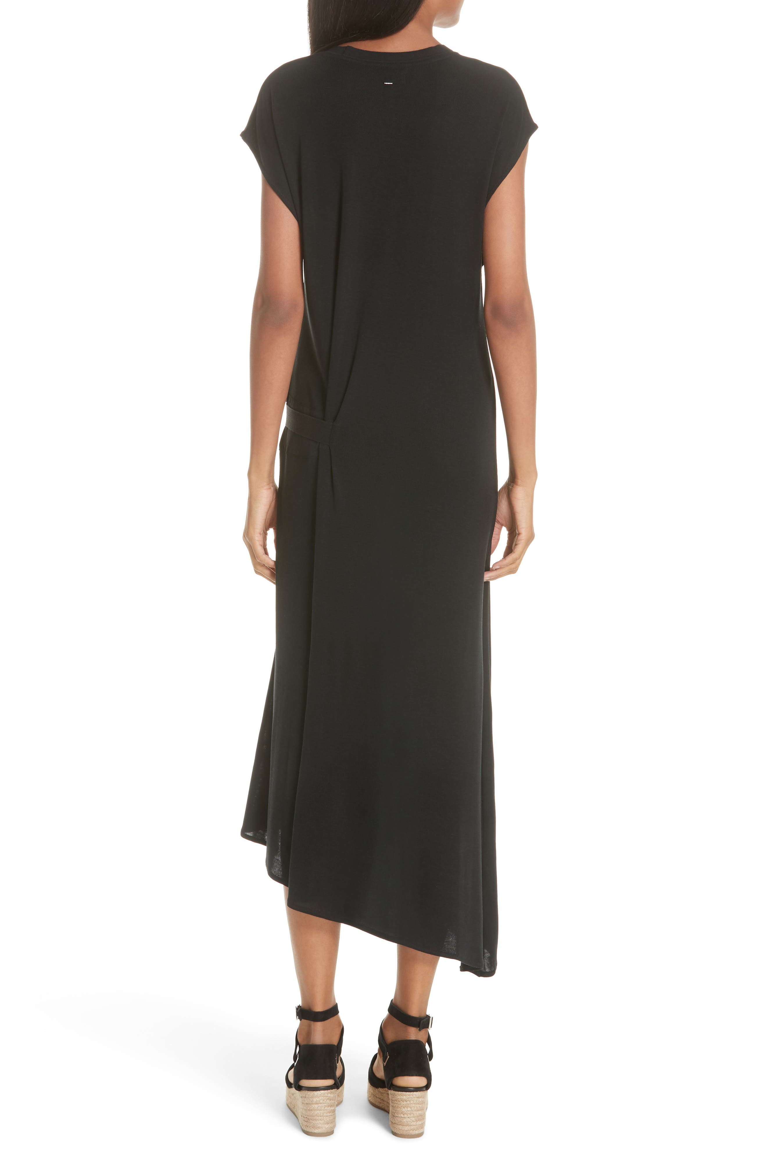 Ophelia Asymmetrical Dress,                             Alternate thumbnail 2, color,                             001