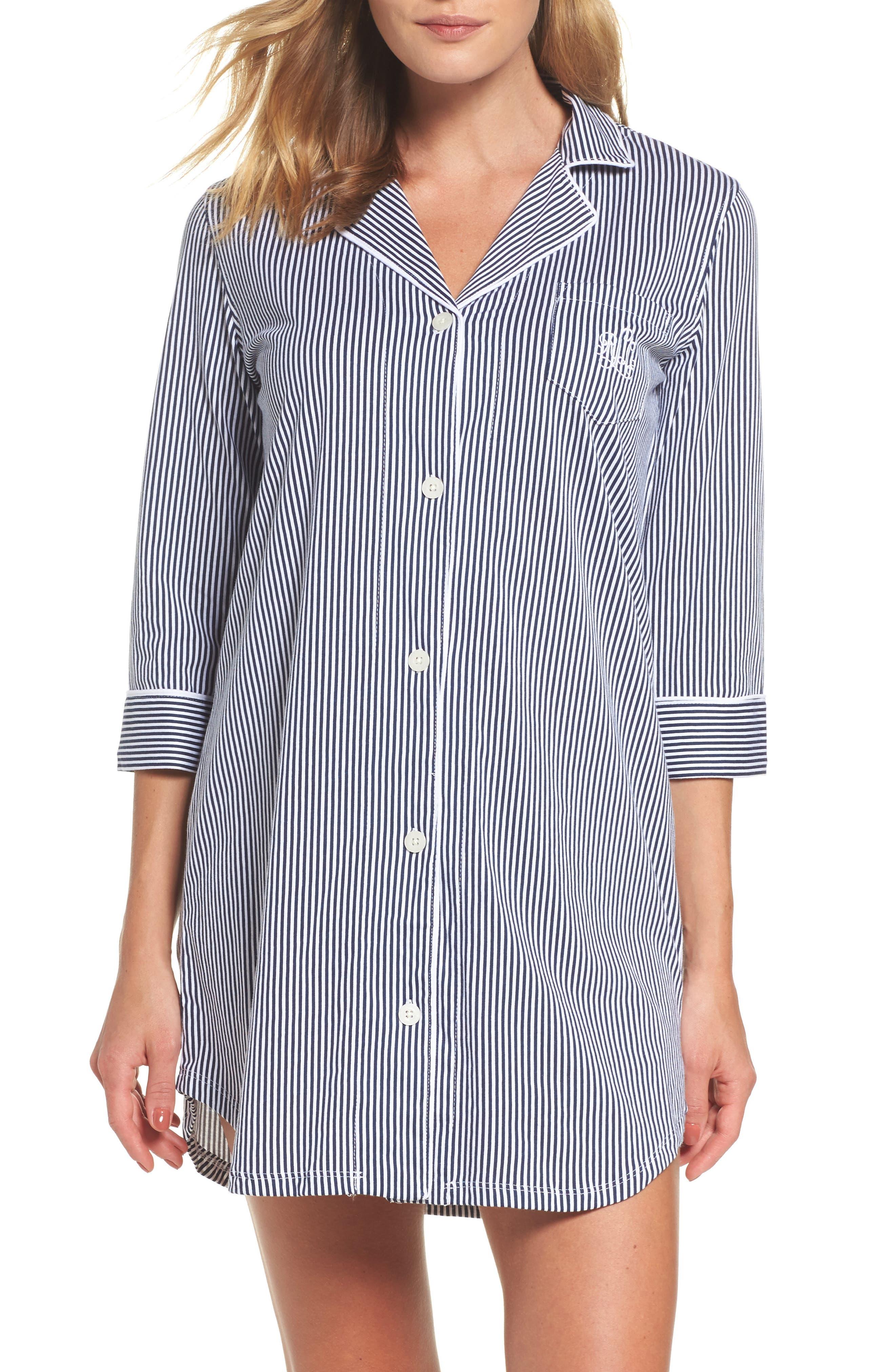Jersey Sleep Shirt,                             Alternate thumbnail 10, color,