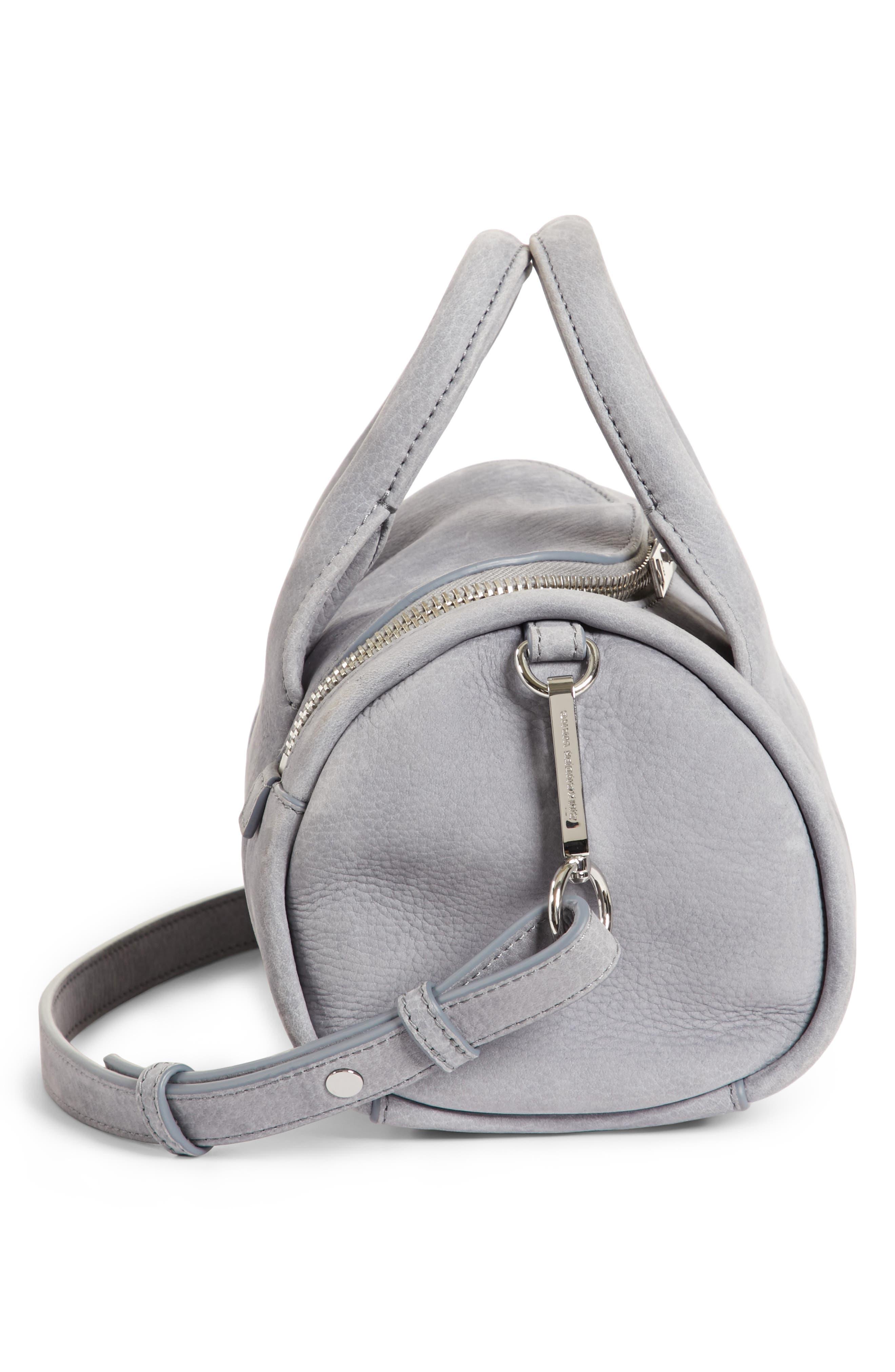 Mini Rockie - Nickel Leather Satchel,                             Alternate thumbnail 5, color,                             461