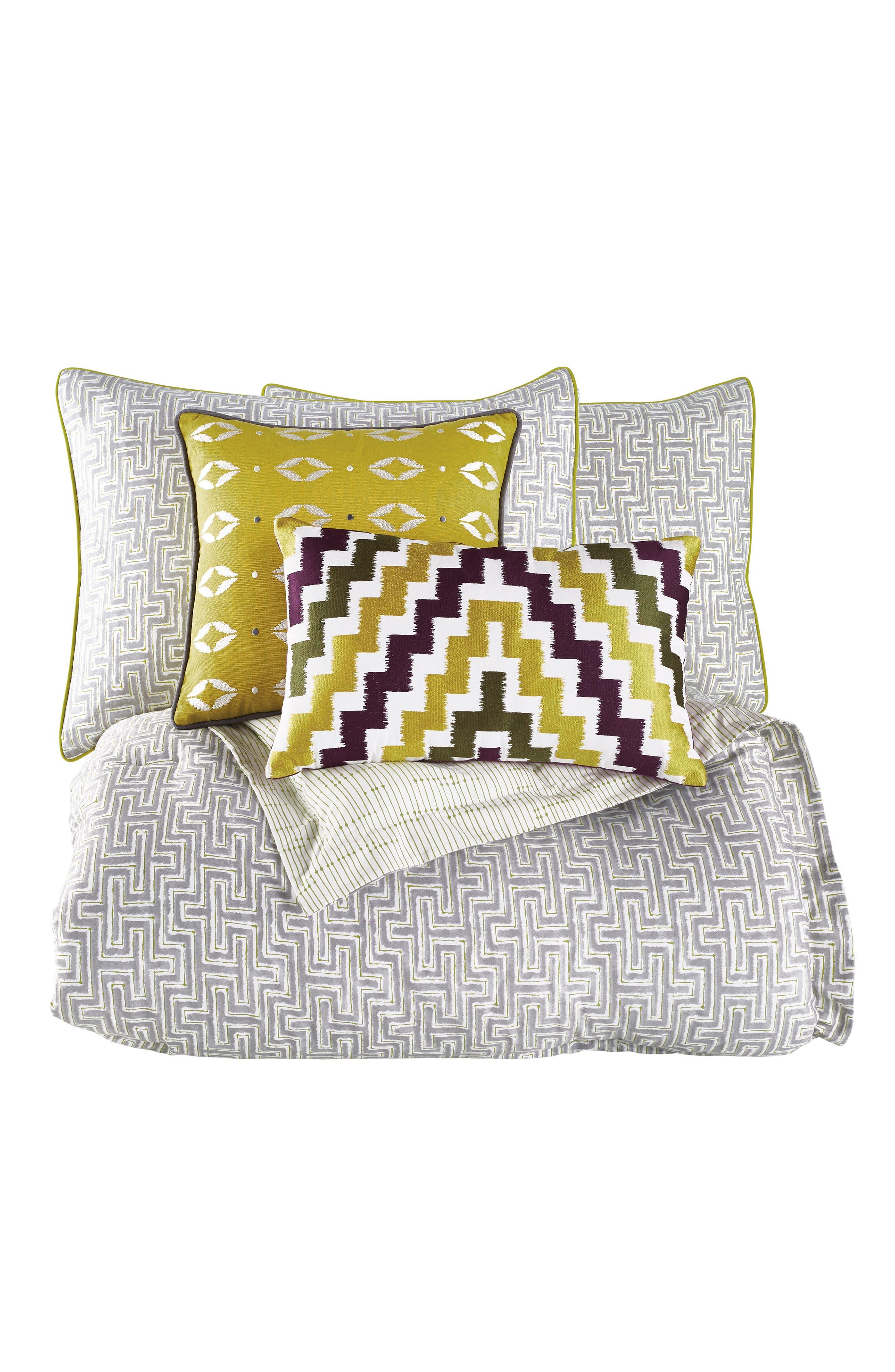 BEDECK,                             Koba Comforter, Sham & Accent Pillow Set,                             Alternate thumbnail 6, color,                             LIGHT GREY