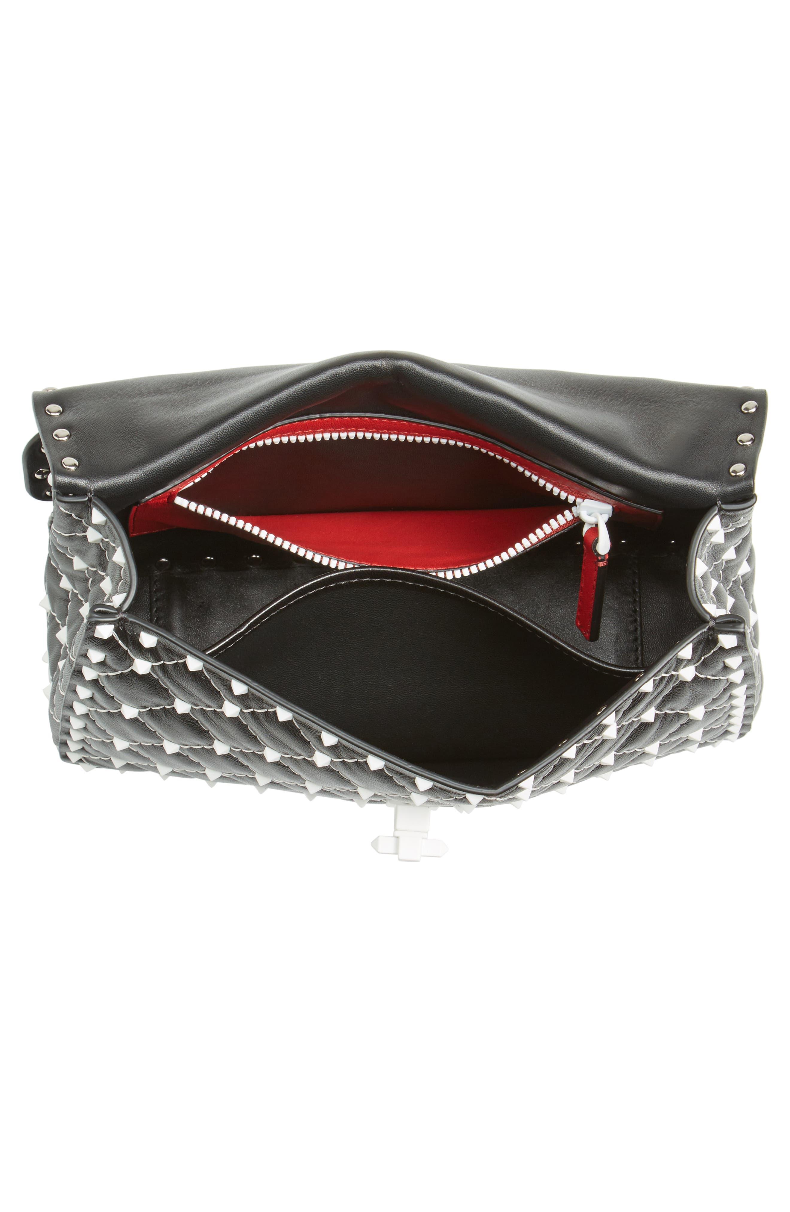 Medium Rockstud Matelassé Leather Shoulder Bag,                             Alternate thumbnail 10, color,