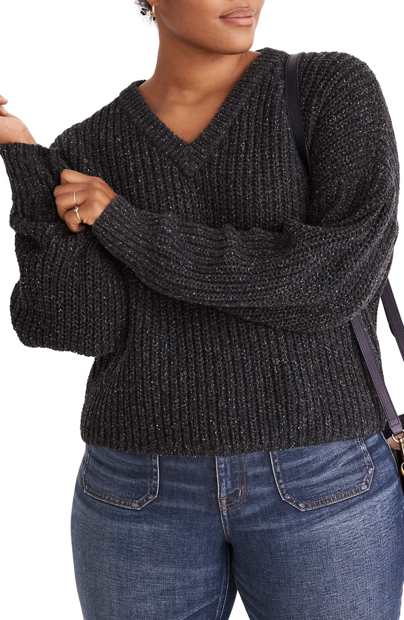 Pleat Sleeve Pullover Sweater,                             Alternate thumbnail 2, color,                             021