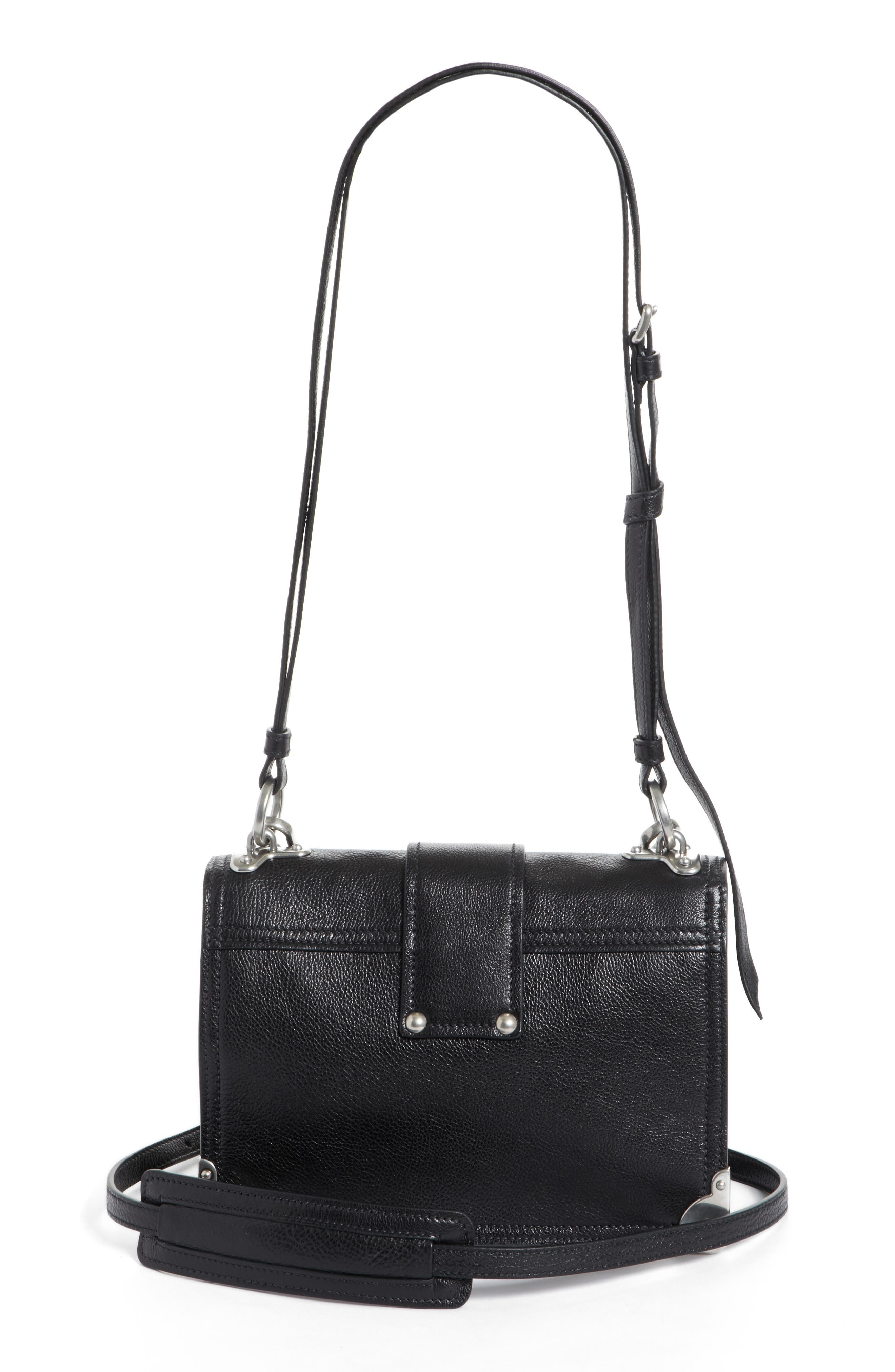 PRADA,                             Cahier Glace Calfskin Convertible Shoulder Bag,                             Alternate thumbnail 3, color,                             001