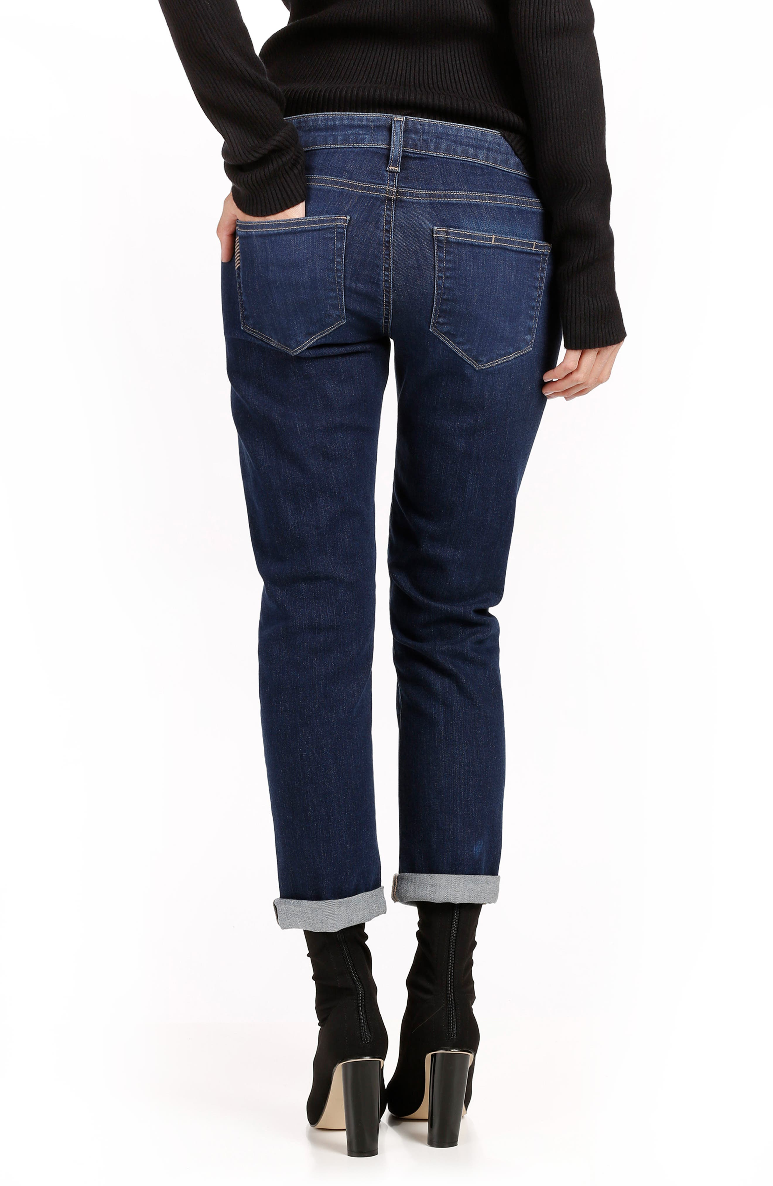 Brigitte Transcend Vintage High Waist Crop Boyfriend Jeans,                             Alternate thumbnail 2, color,                             ENCHANT