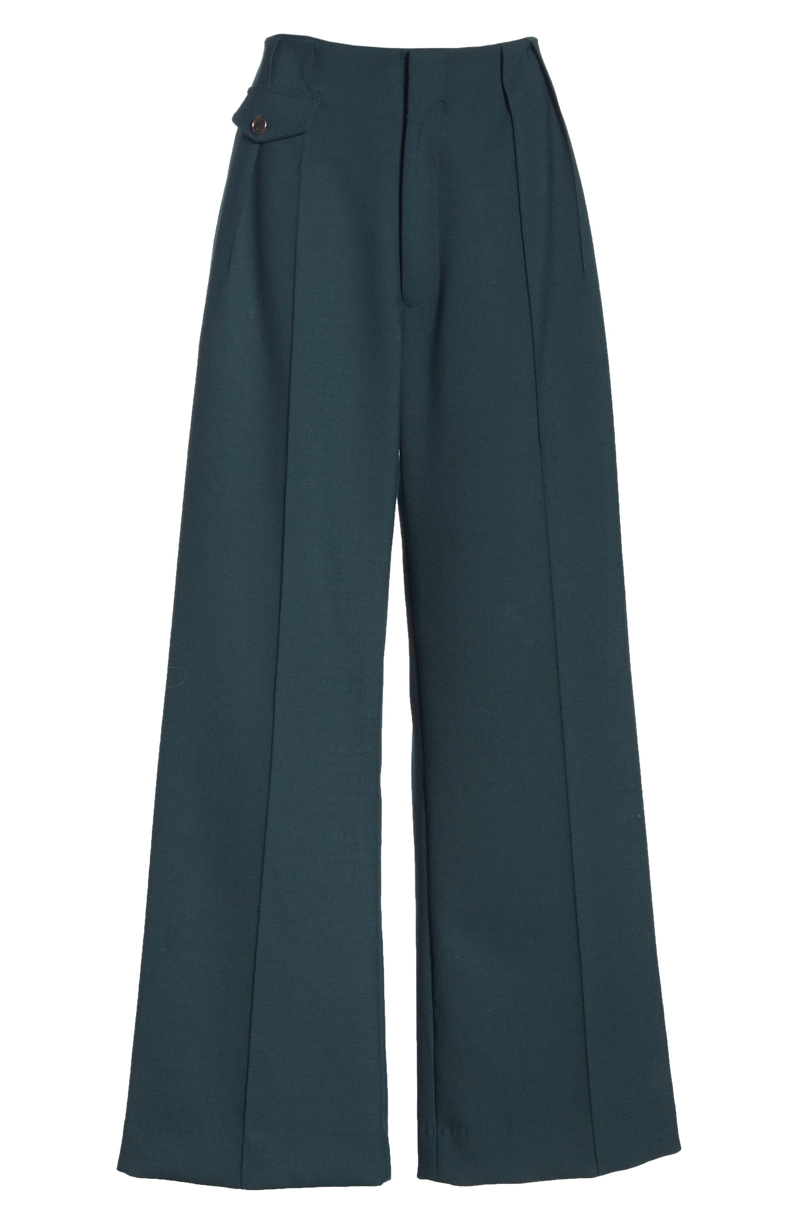 Seamed Wide Leg Trousers,                             Alternate thumbnail 6, color,                             300