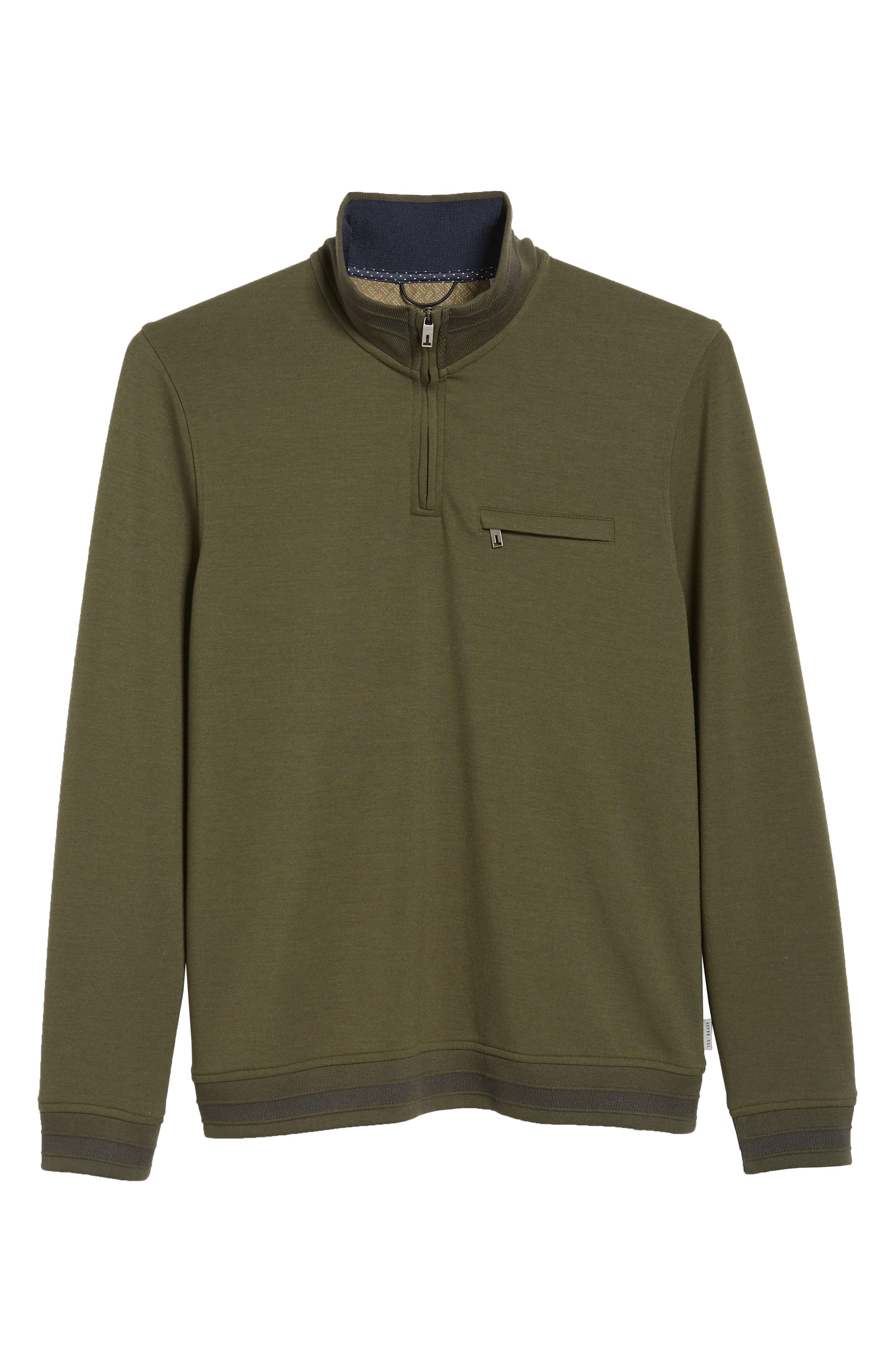 Leevit Quarter Zip Pullover,                             Alternate thumbnail 6, color,                             KHAKI