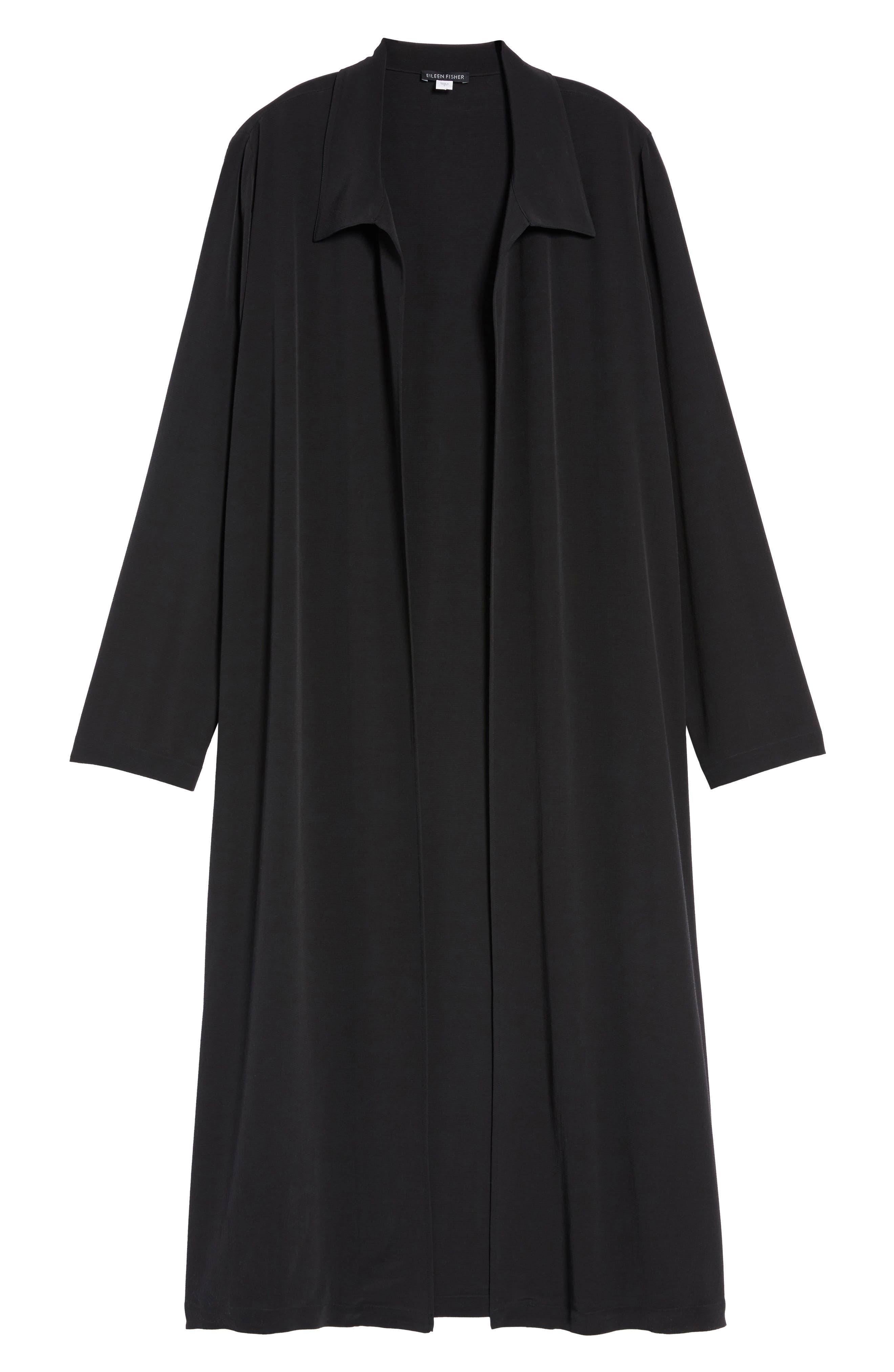 Open Front Duster Jacket,                             Alternate thumbnail 5, color,                             001