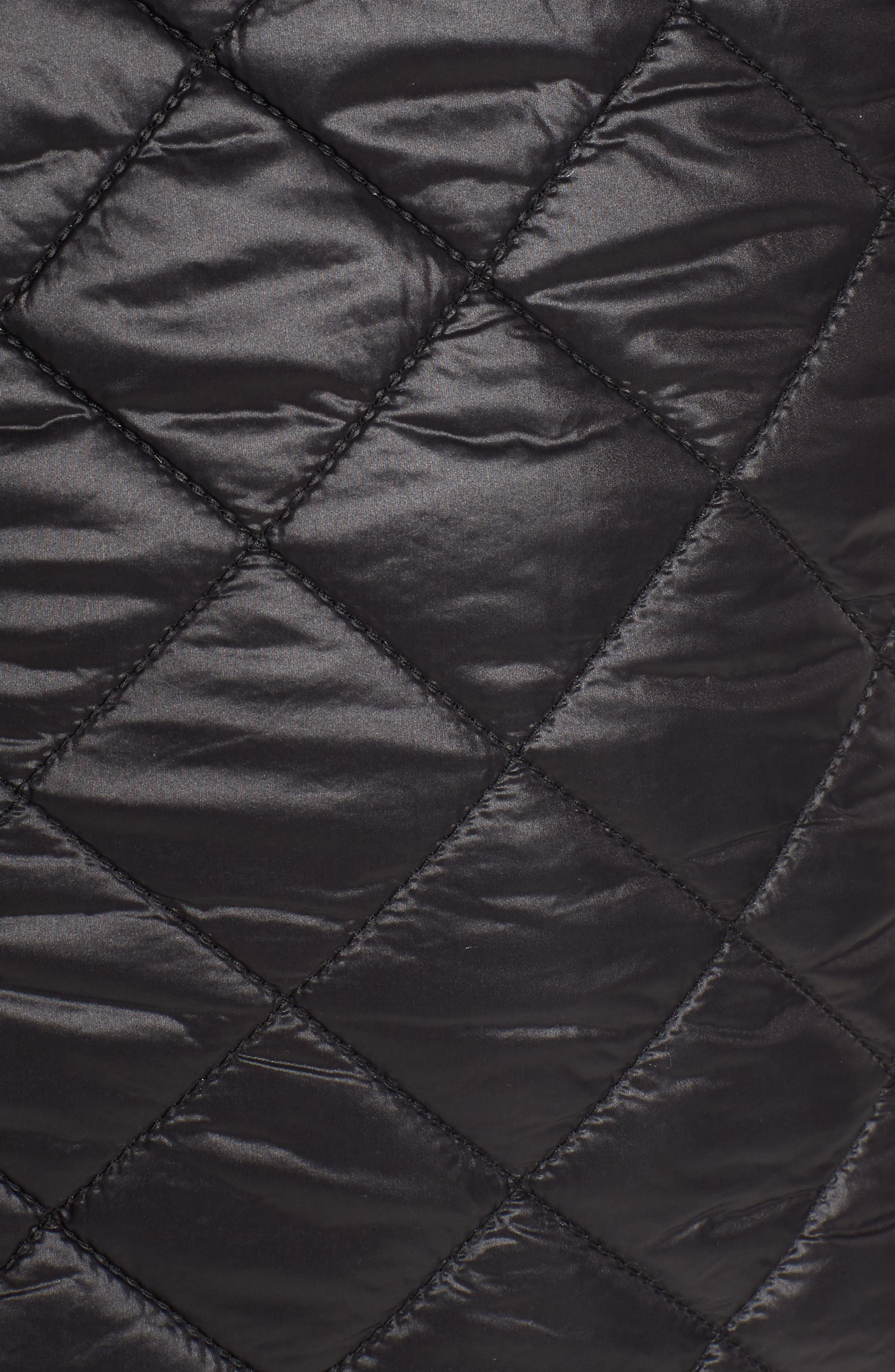 Quilted Anorak Jacket,                             Alternate thumbnail 6, color,                             001