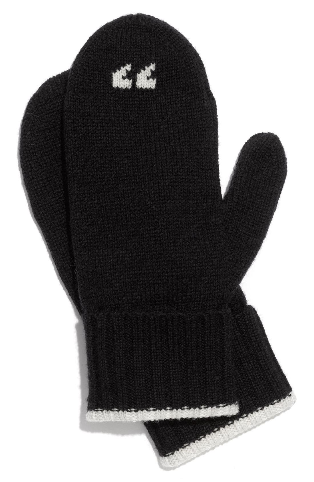 KATE SPADE NEW YORK,                             'hi 5' mittens,                             Main thumbnail 1, color,                             017