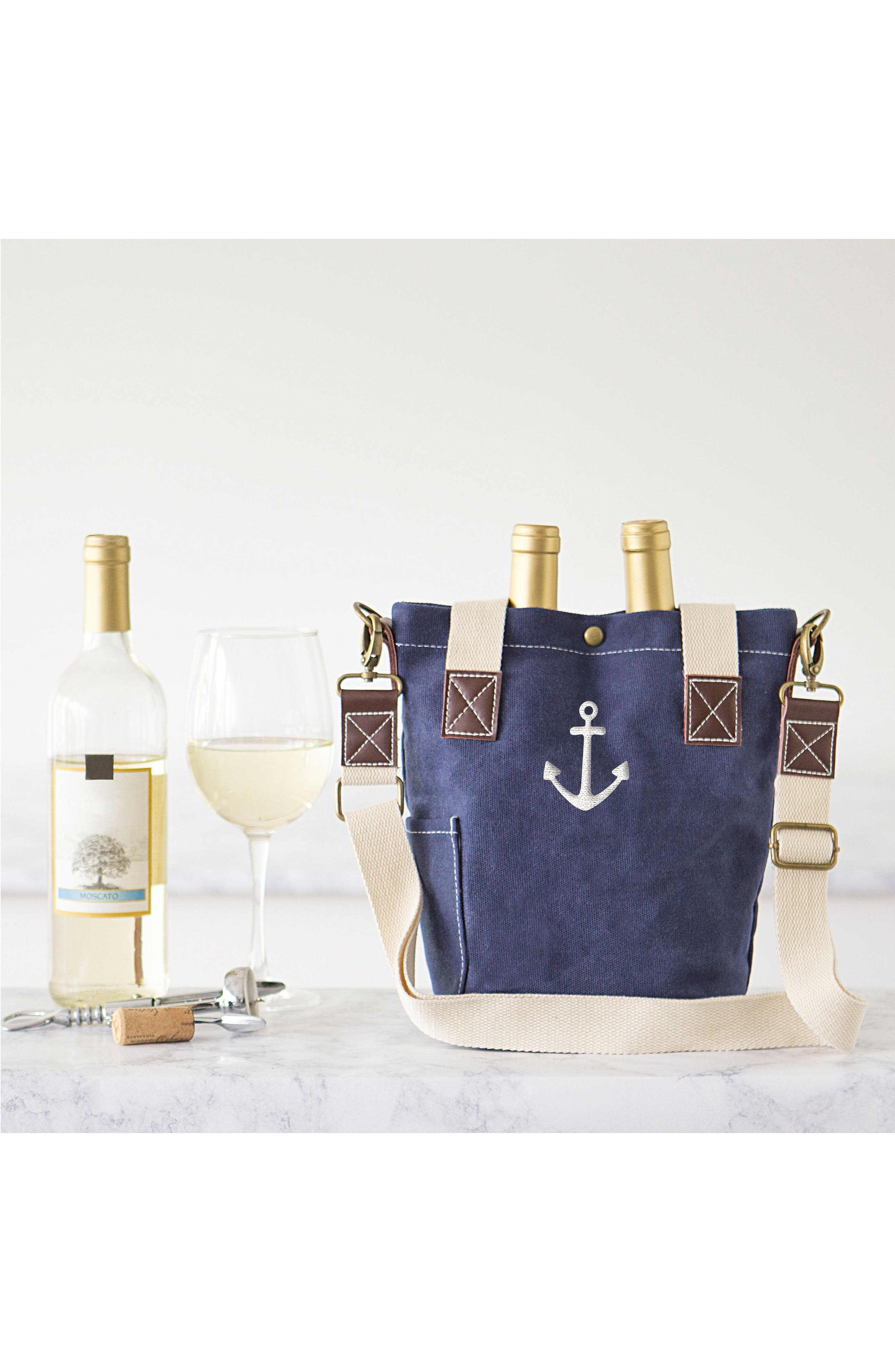 Anchor Wine Tote,                             Alternate thumbnail 6, color,