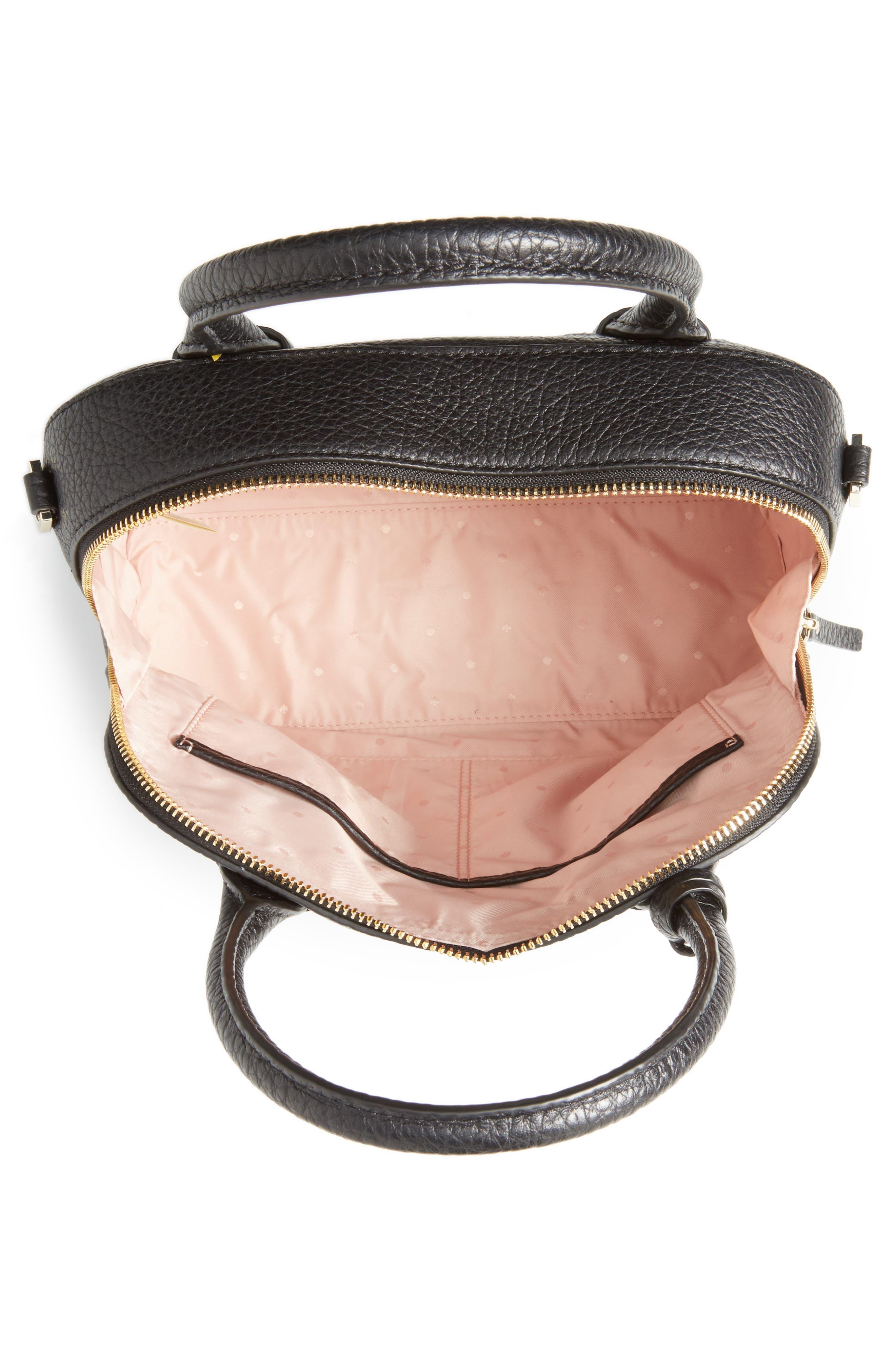 carter street - small ashleigh leather satchel,                             Alternate thumbnail 4, color,                             001