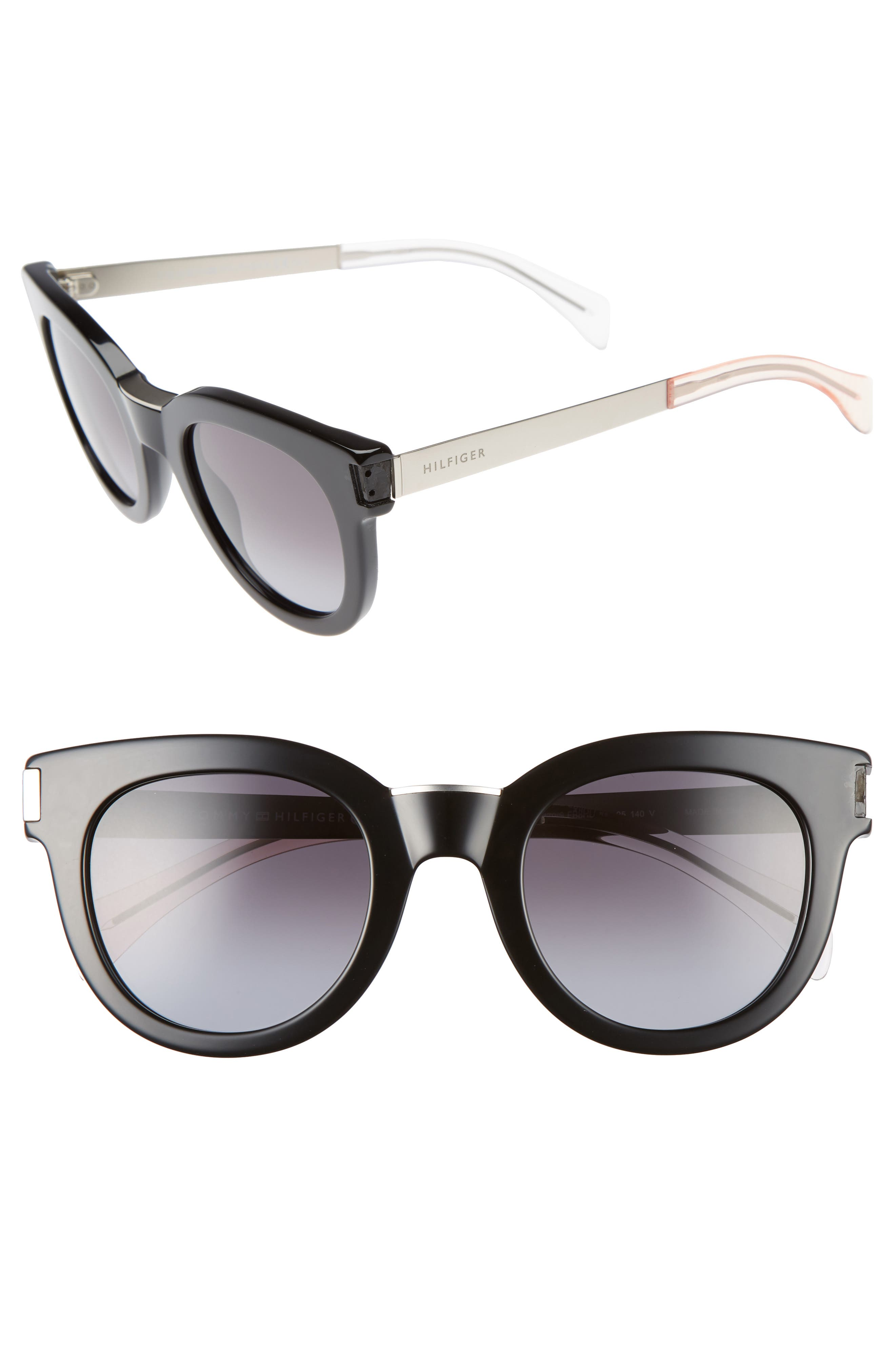 49mm Butterfly Sunglasses,                         Main,                         color, 001