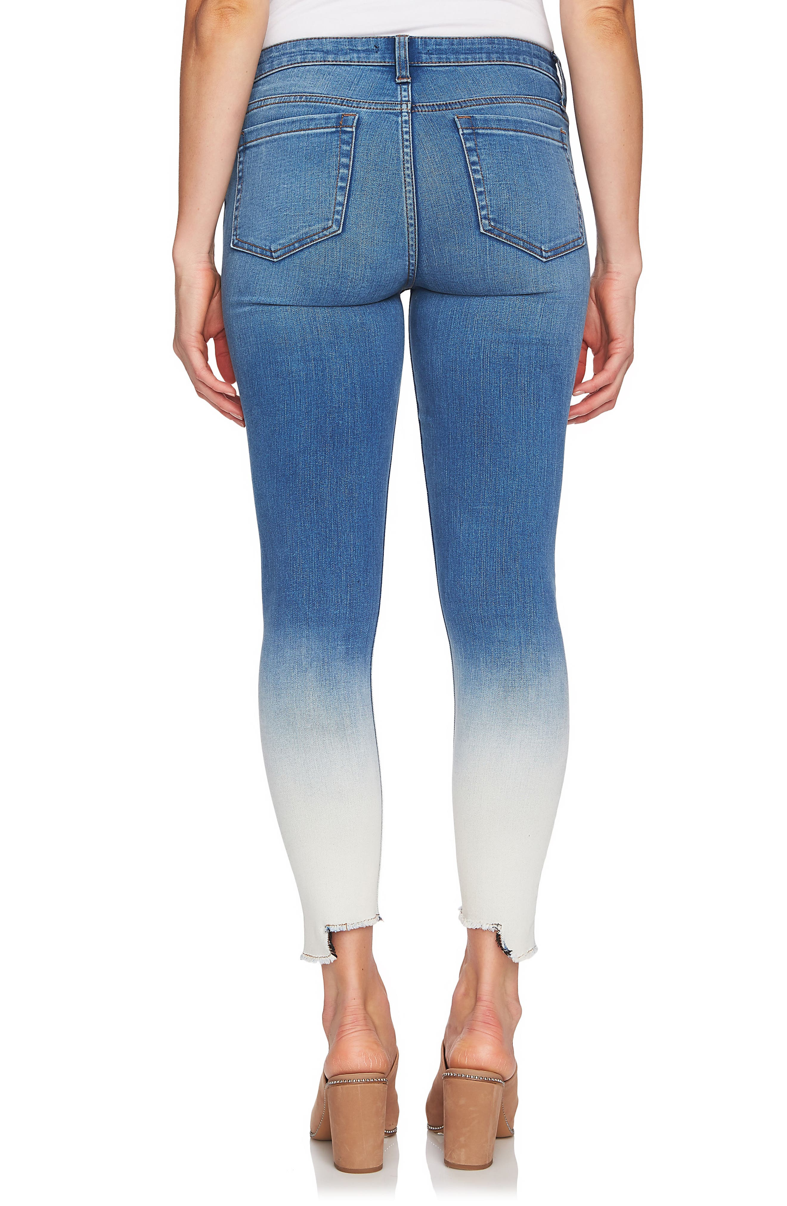 Dip Dye Skinny Jeans,                             Alternate thumbnail 2, color,                             458