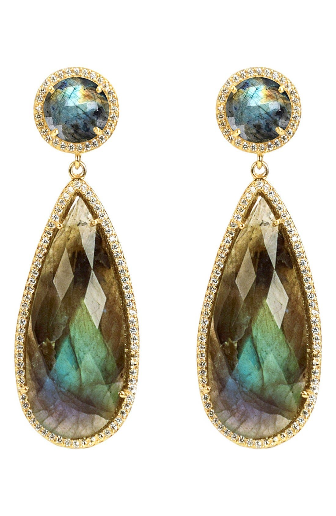 Semiprecious Stone Double Drop Earrings,                             Main thumbnail 7, color,