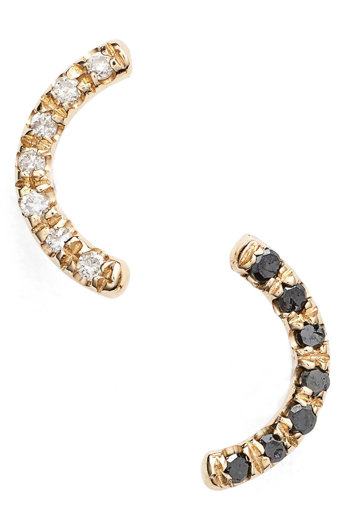 'Micropavé Arc' Diamond Earrings,                             Main thumbnail 1, color,                             710