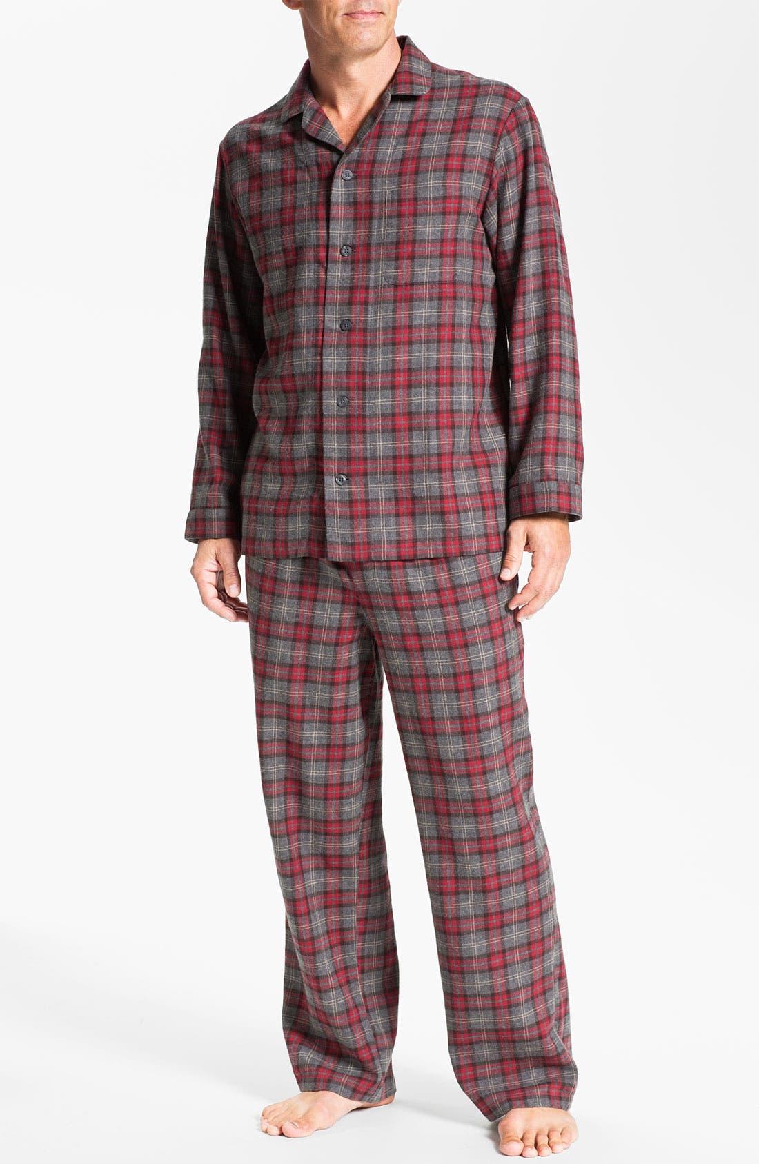 '824' Flannel Pajama Set,                             Main thumbnail 21, color,