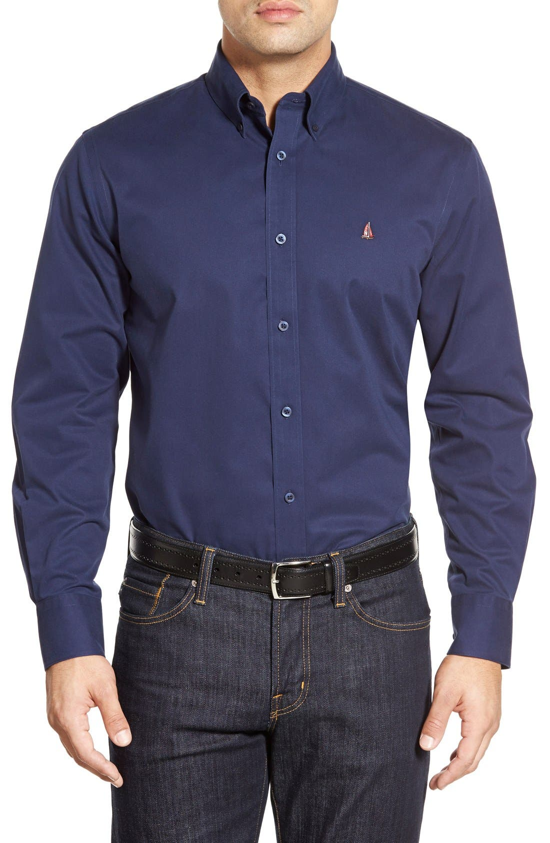 Smartcare<sup>™</sup> Traditional Fit Twill Boat Shirt,                             Main thumbnail 22, color,