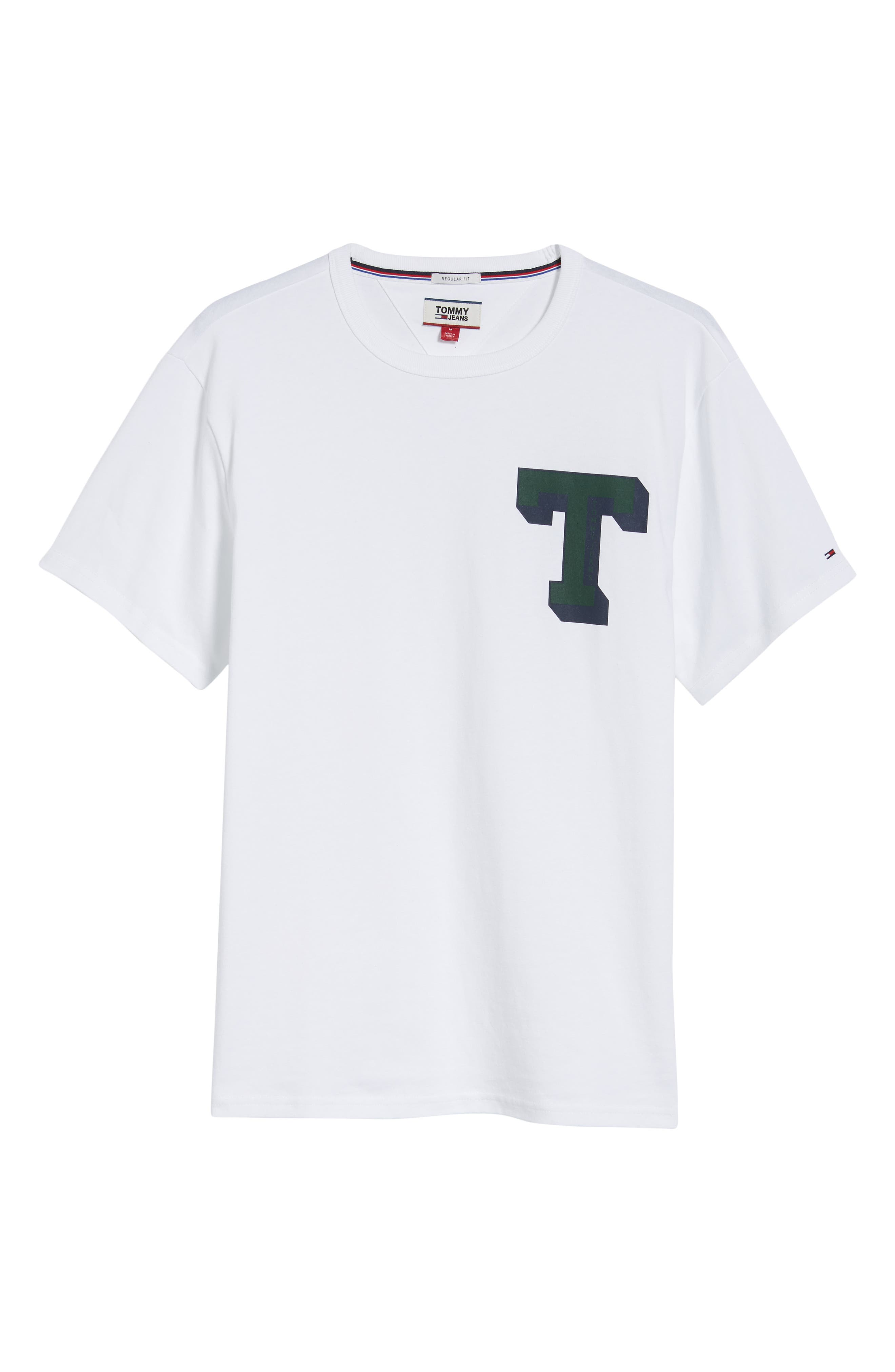 TOMMY JEANS,                             Essential Graphic T-Shirt,                             Alternate thumbnail 6, color,                             100