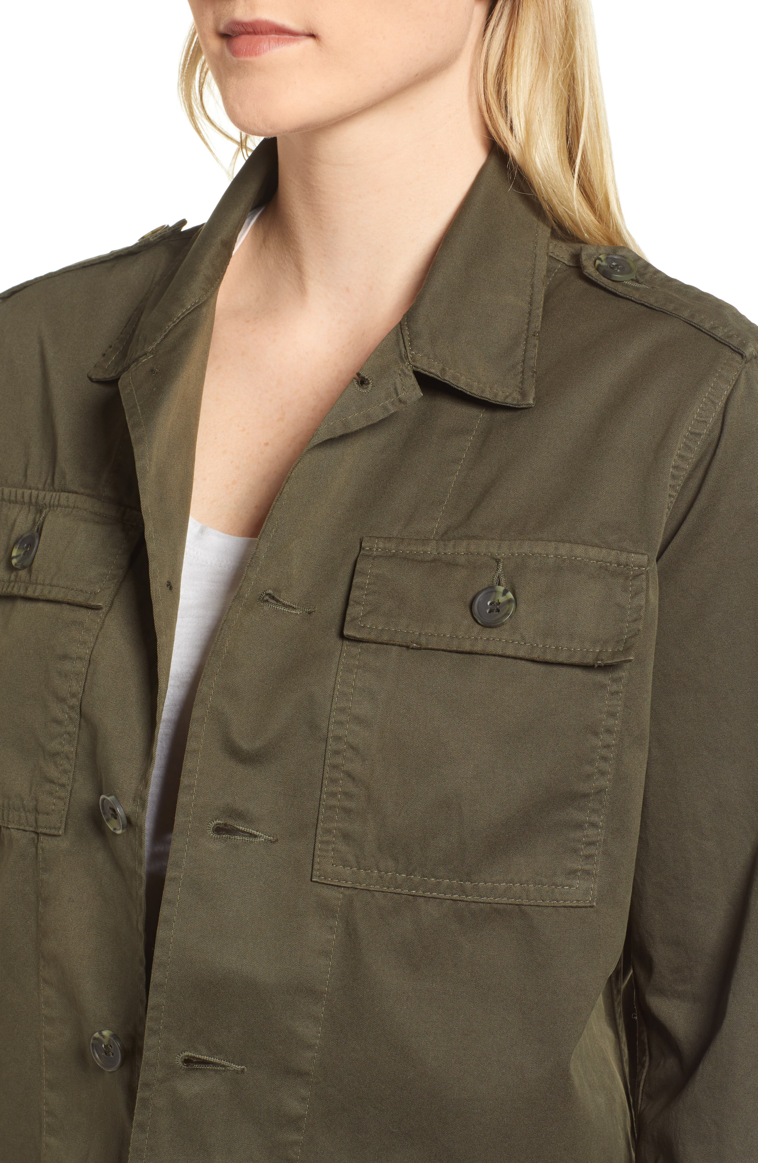 Workwear Cotton Jacket,                             Alternate thumbnail 4, color,                             301