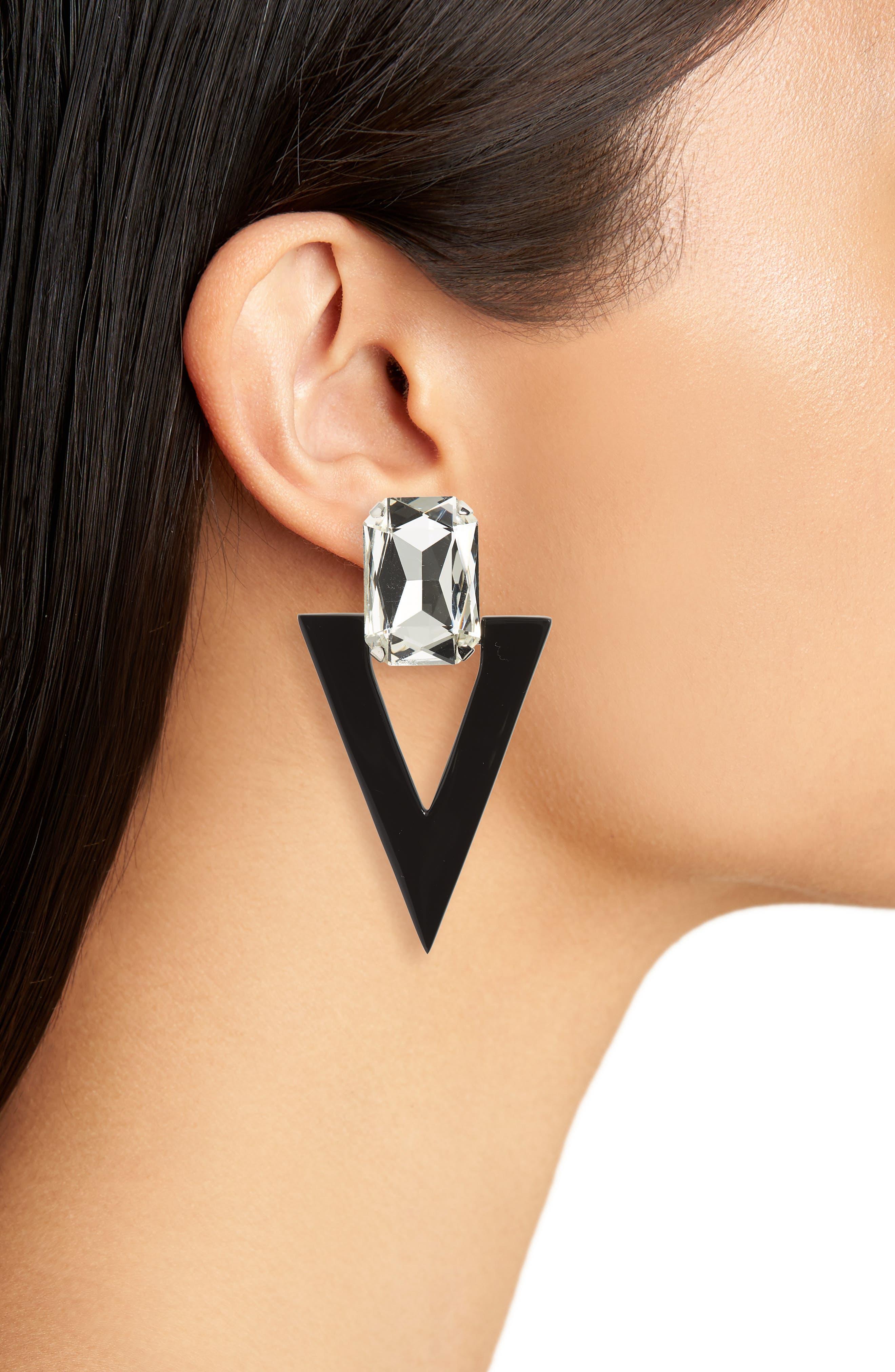 Mismatched Geometric Earrings,                             Alternate thumbnail 2, color,                             043