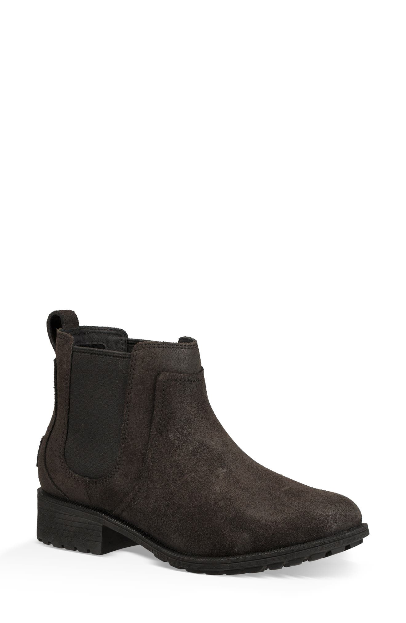 Bonham II Waterproof Chelsea Bootie,                         Main,                         color, BLACK