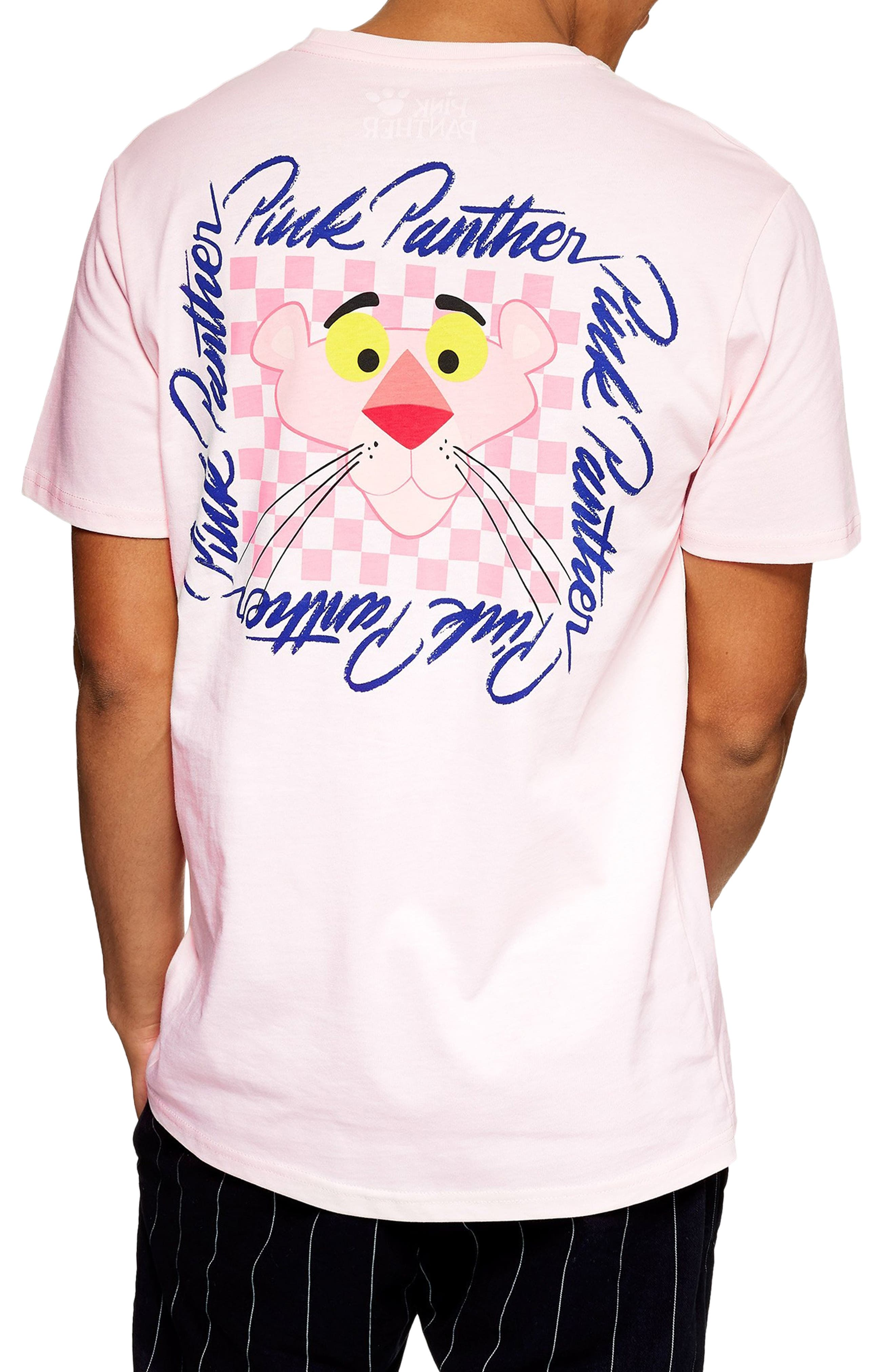 Pink Panther Graphic T-Shirt,                             Alternate thumbnail 2, color,                             PINK