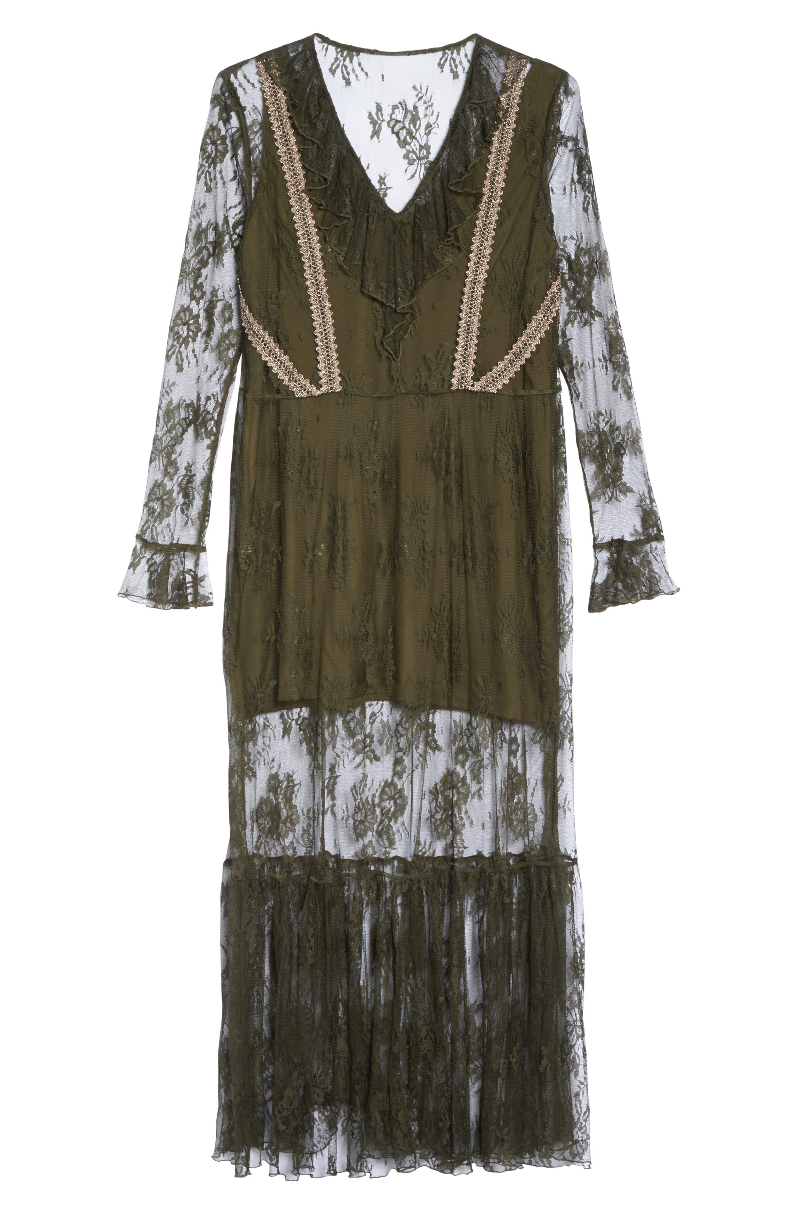 Lace Boho Maxi Dress,                             Alternate thumbnail 6, color,