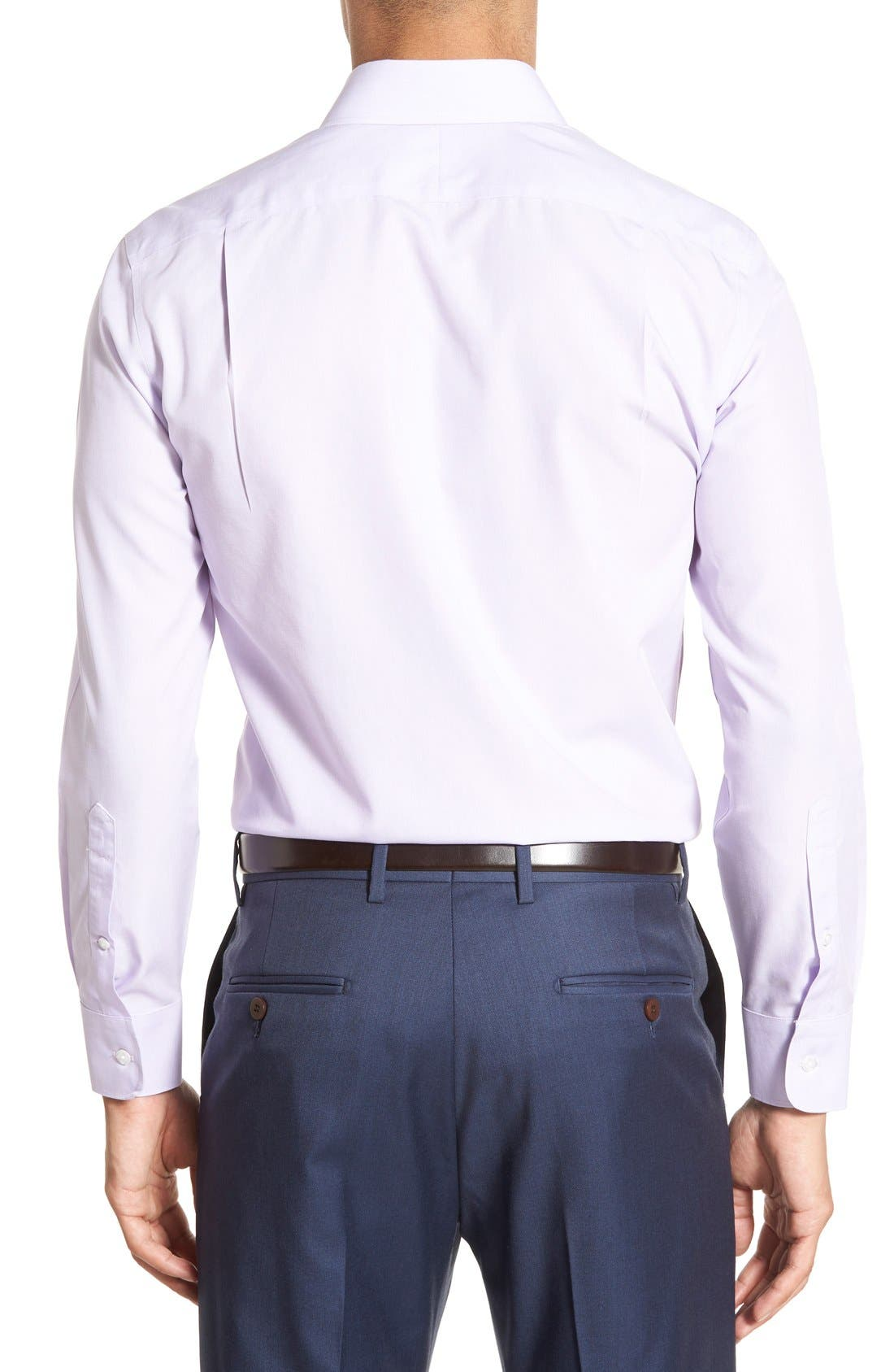 Slim Fit Wrinkle Free Solid Dress Shirt,                             Alternate thumbnail 5, color,                             PALE LILAC
