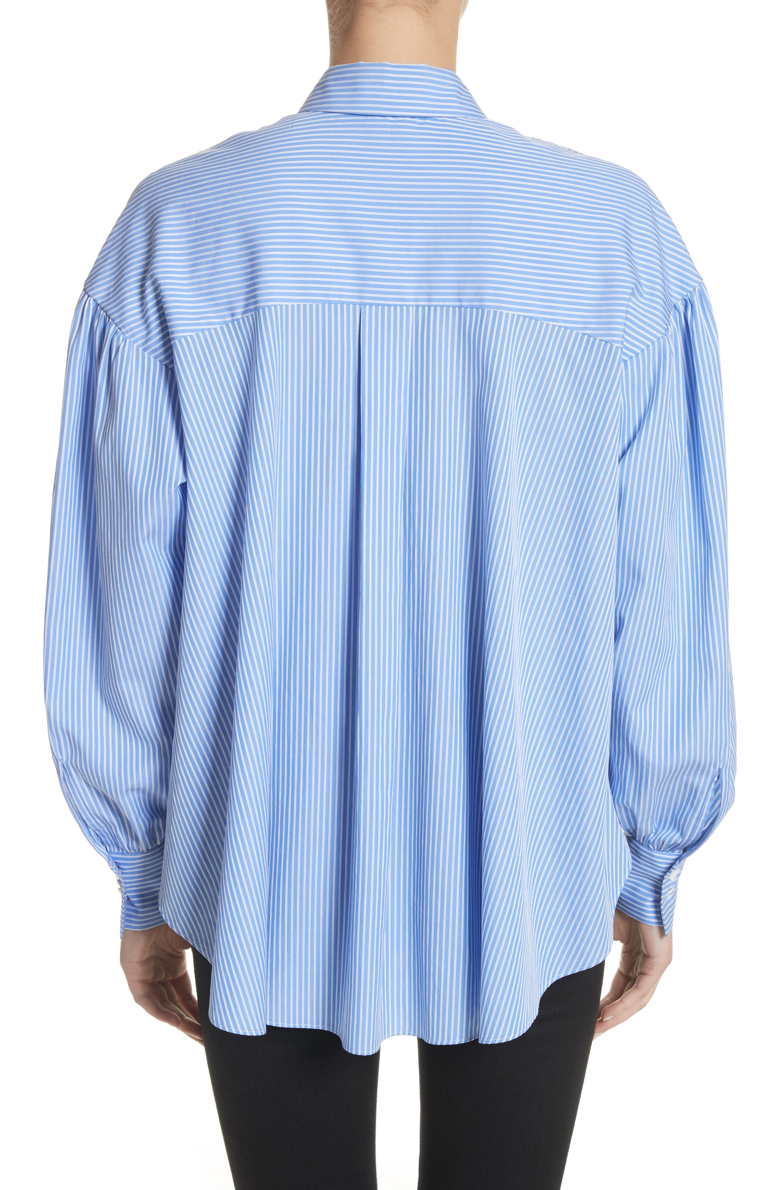 Stripe Puff Sleeve Shirt,                             Alternate thumbnail 2, color,                             400
