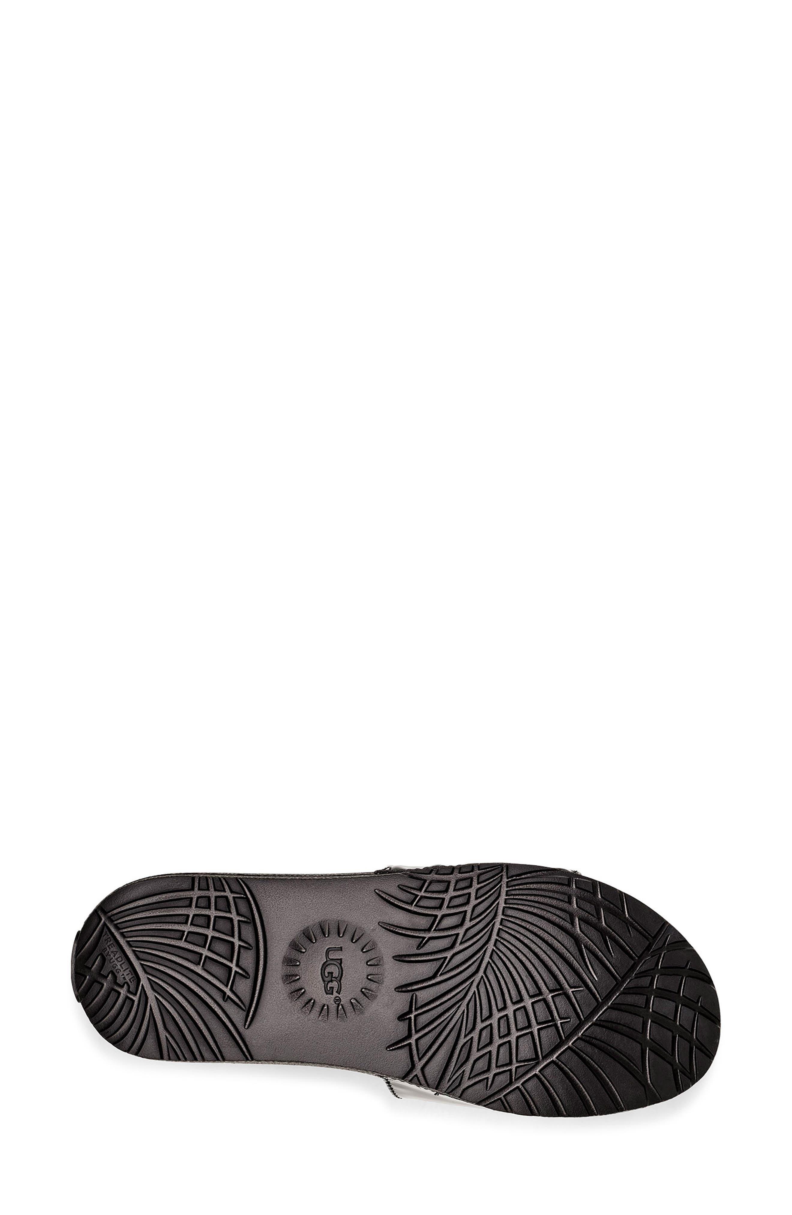 UGG<SUP>®</SUP>,                             Royale Slide Sandal,                             Alternate thumbnail 5, color,                             BLACK
