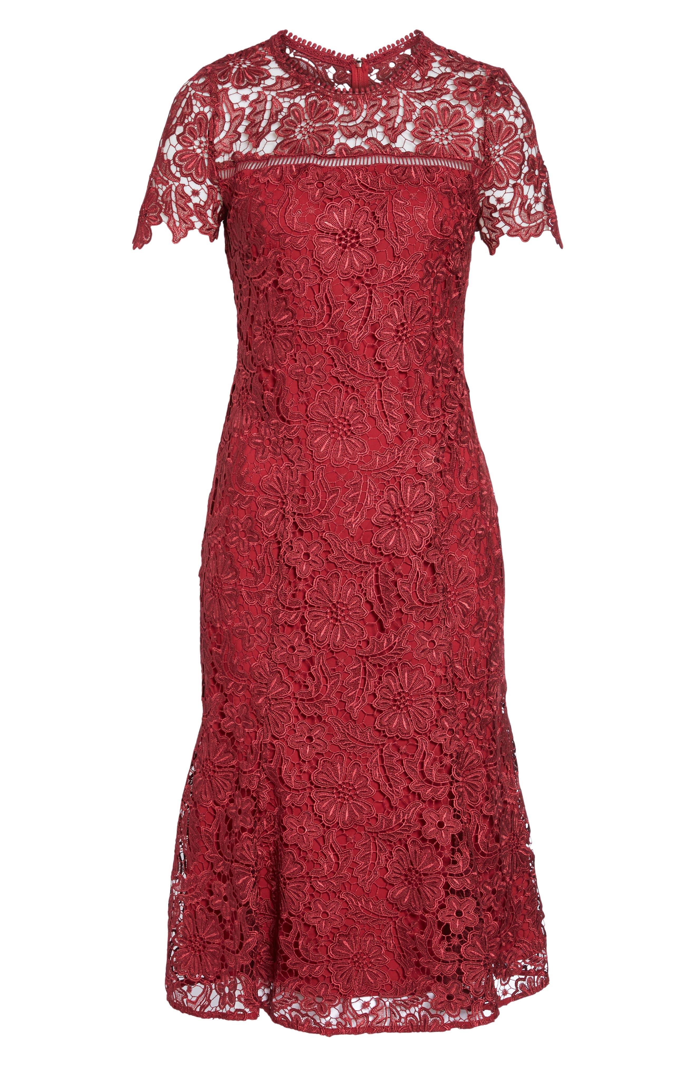 Park Lace Midi Dress,                             Alternate thumbnail 6, color,