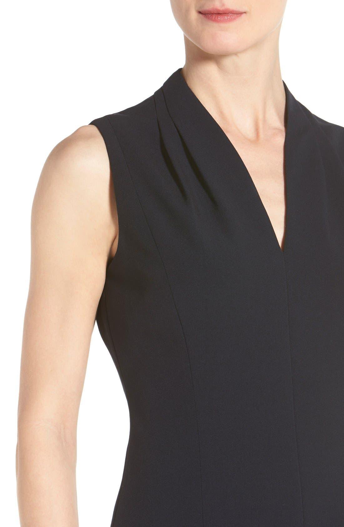 'Tonya' V-Neck Sheath Dress,                             Alternate thumbnail 8, color,