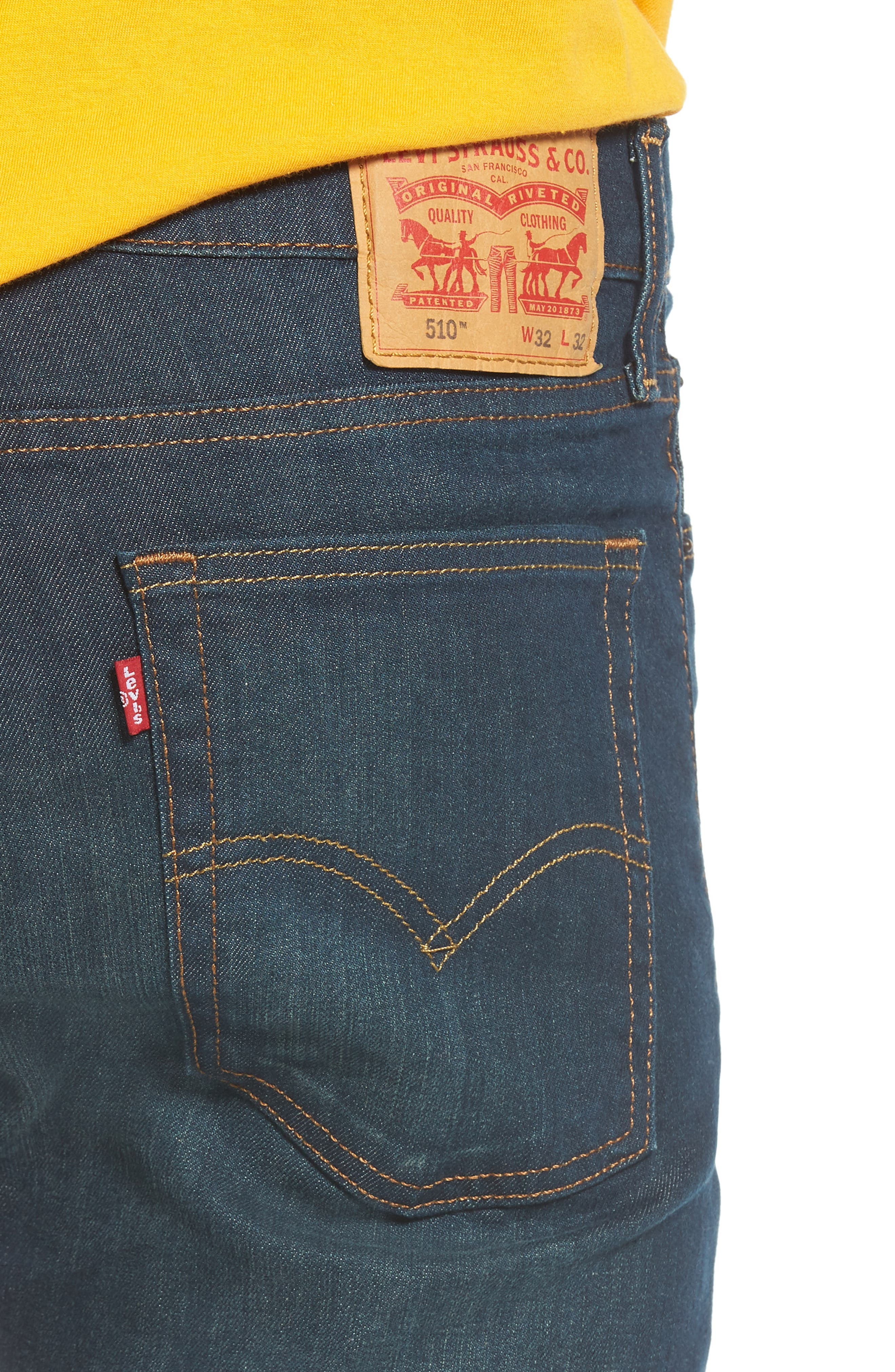 510<sup>™</sup> Skinny Fit Jeans,                             Alternate thumbnail 4, color,                             400