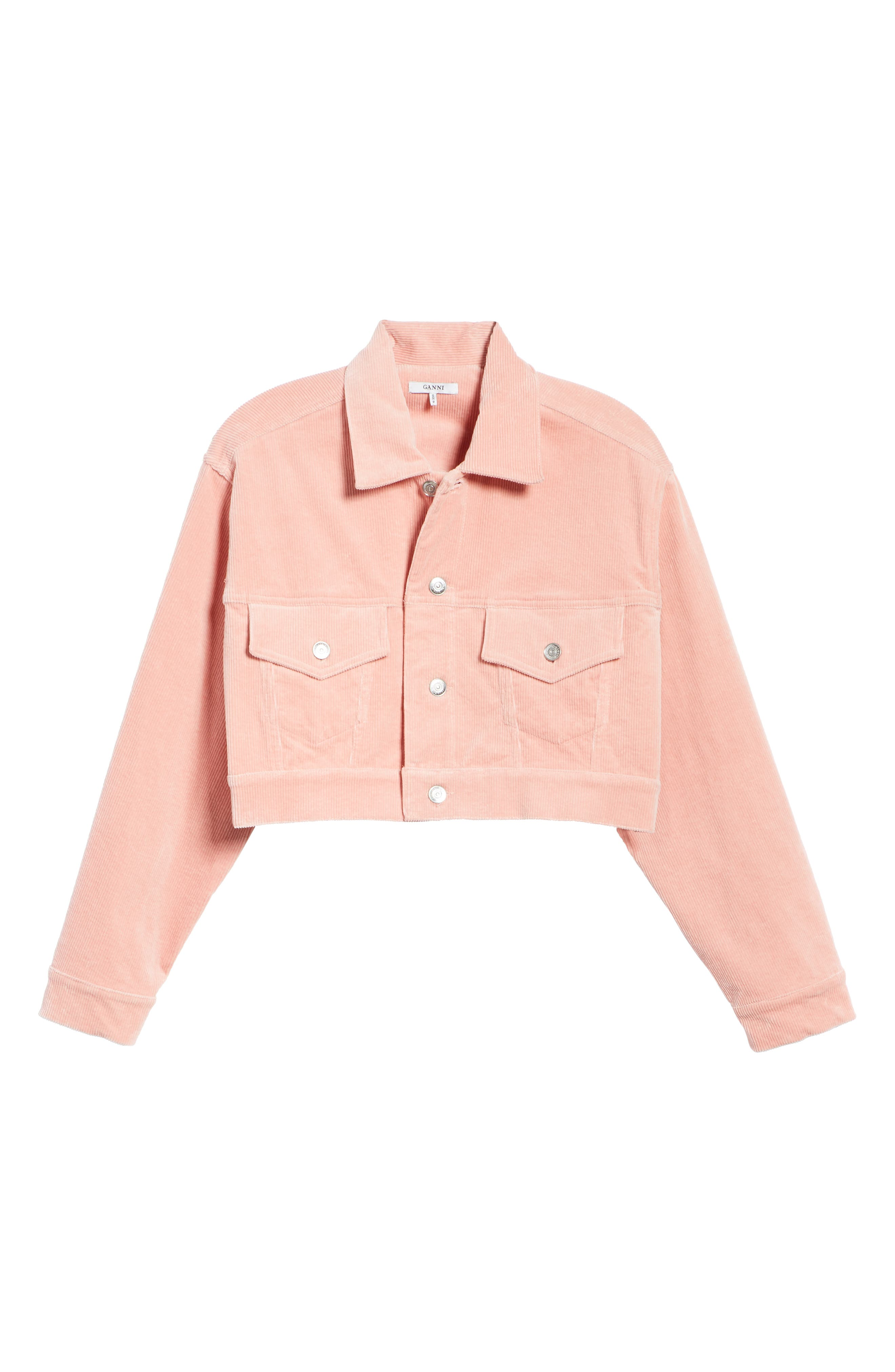Stretch Corduroy Jacket,                             Alternate thumbnail 5, color,                             SILVER PINK 499