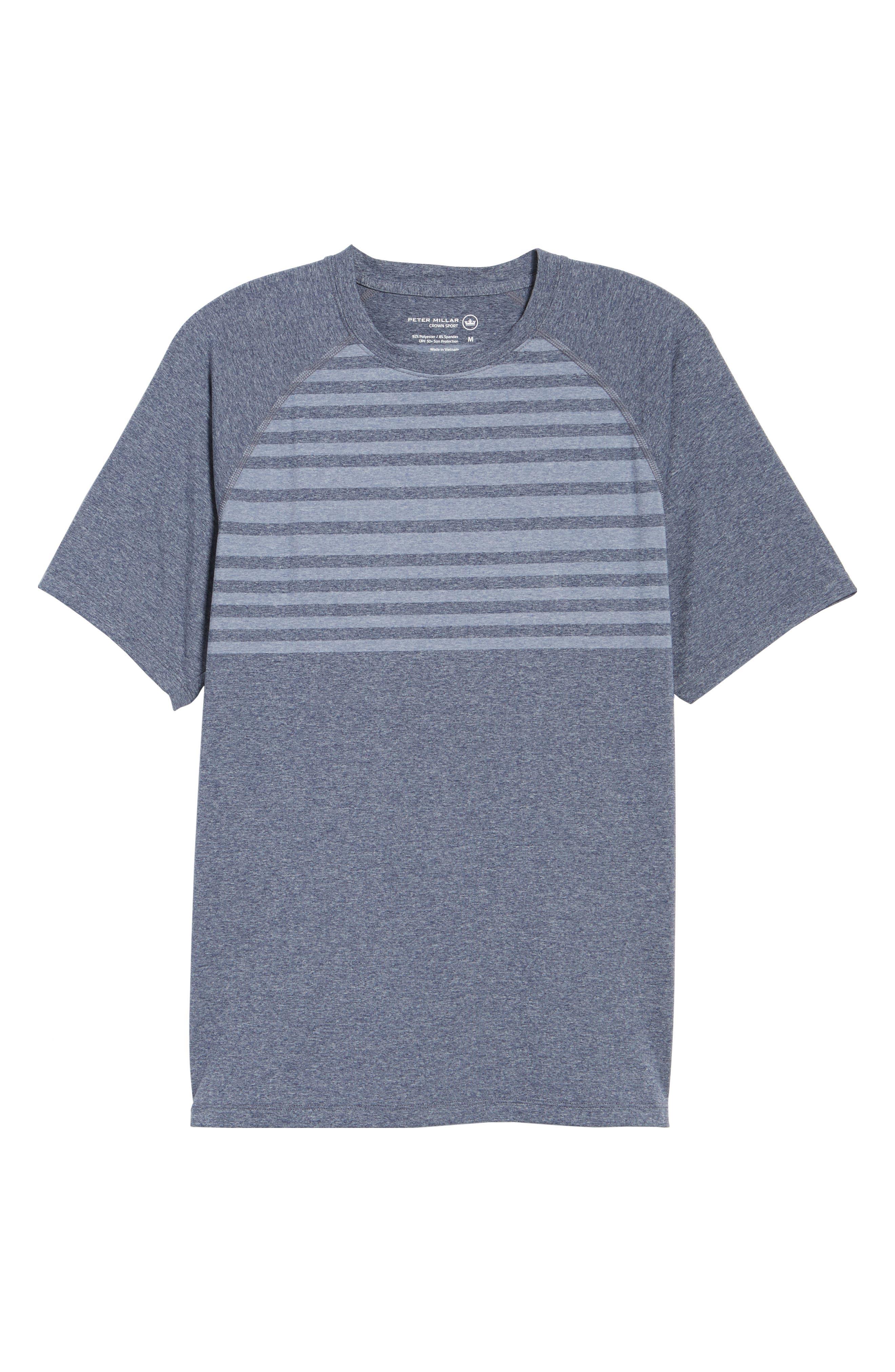 Rio Stripe Technical T-Shirt,                             Alternate thumbnail 12, color,