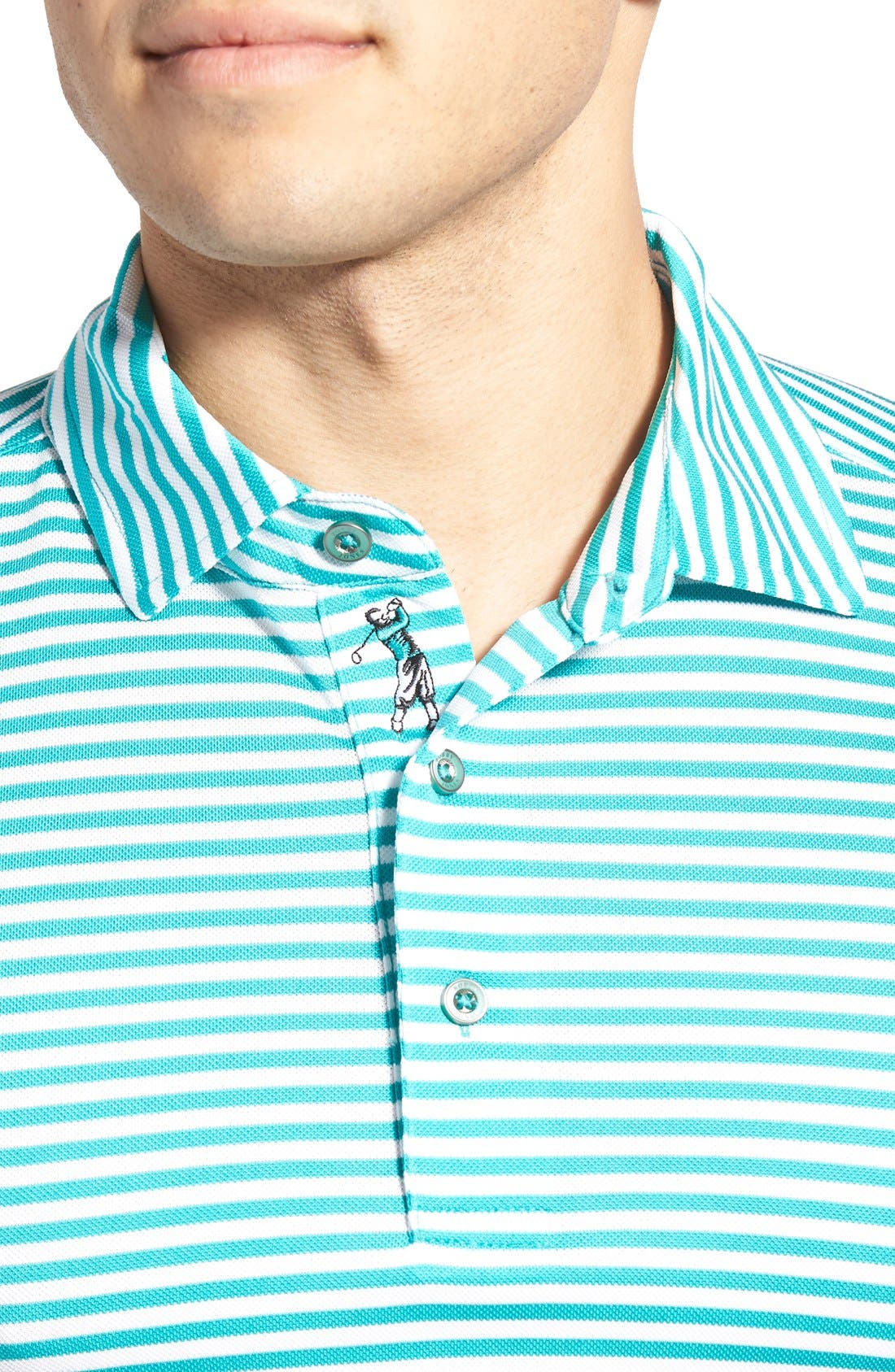 XH2O Feed Stripe Stretch Golf Polo,                             Alternate thumbnail 64, color,