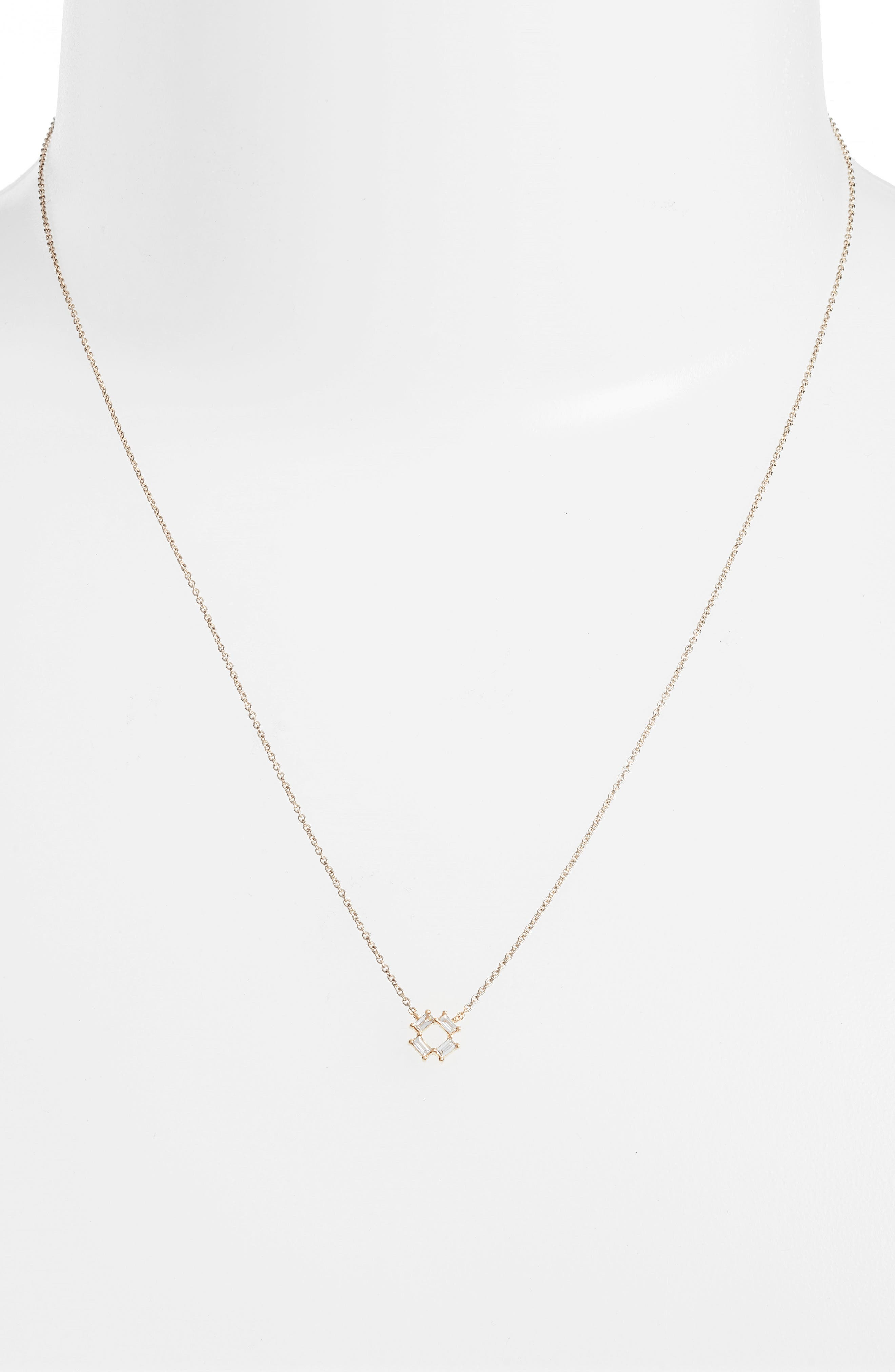 Sadie Diamond Pendant Necklace,                             Alternate thumbnail 2, color,                             YELLOW GOLD